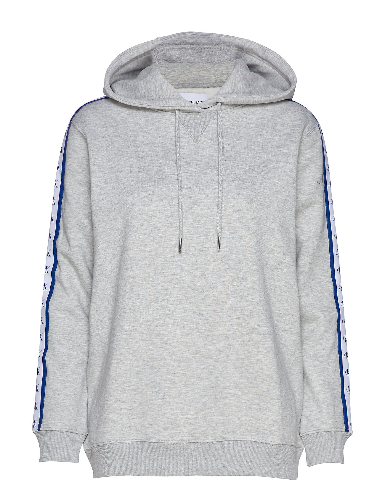 Calvin Klein Jeans MONOGRAM TAPE HOODIE - LIGHT GREY HEATHER