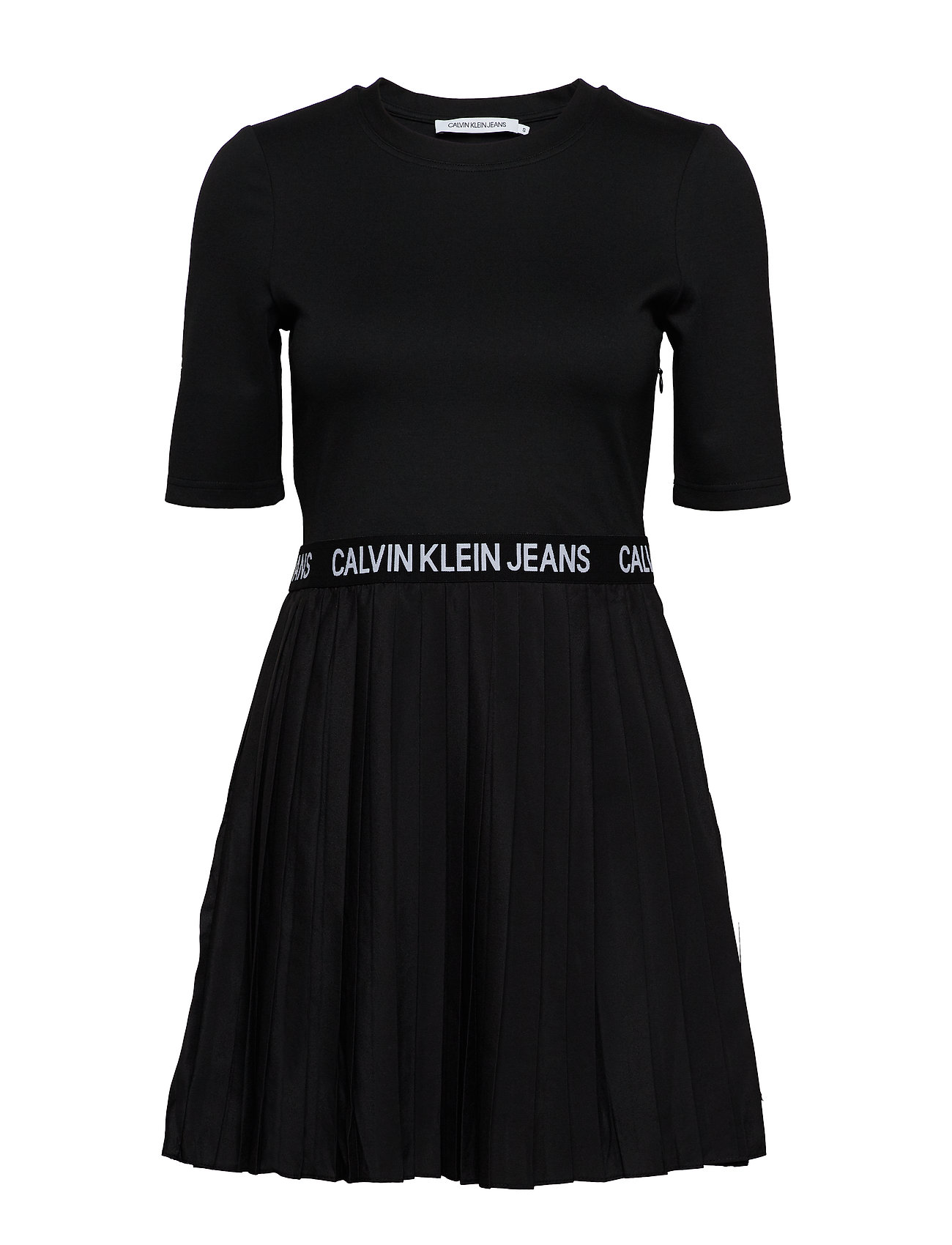 Calvin Klein Jeans PLEATED DRESS - CK BLACK