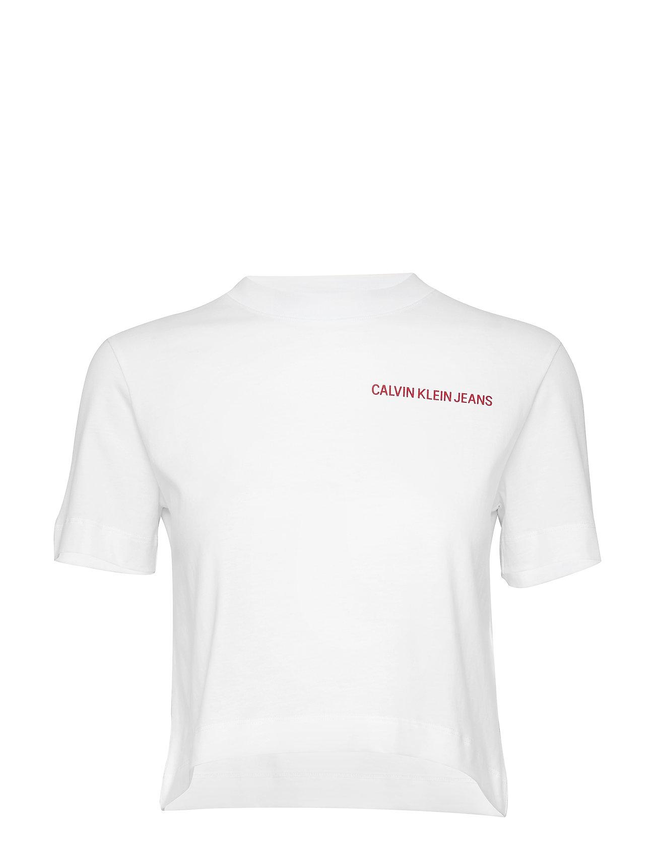 Image of Multi Instit Back Lo T-shirt Top Hvid CALVIN KLEIN JEANS (3160759717)
