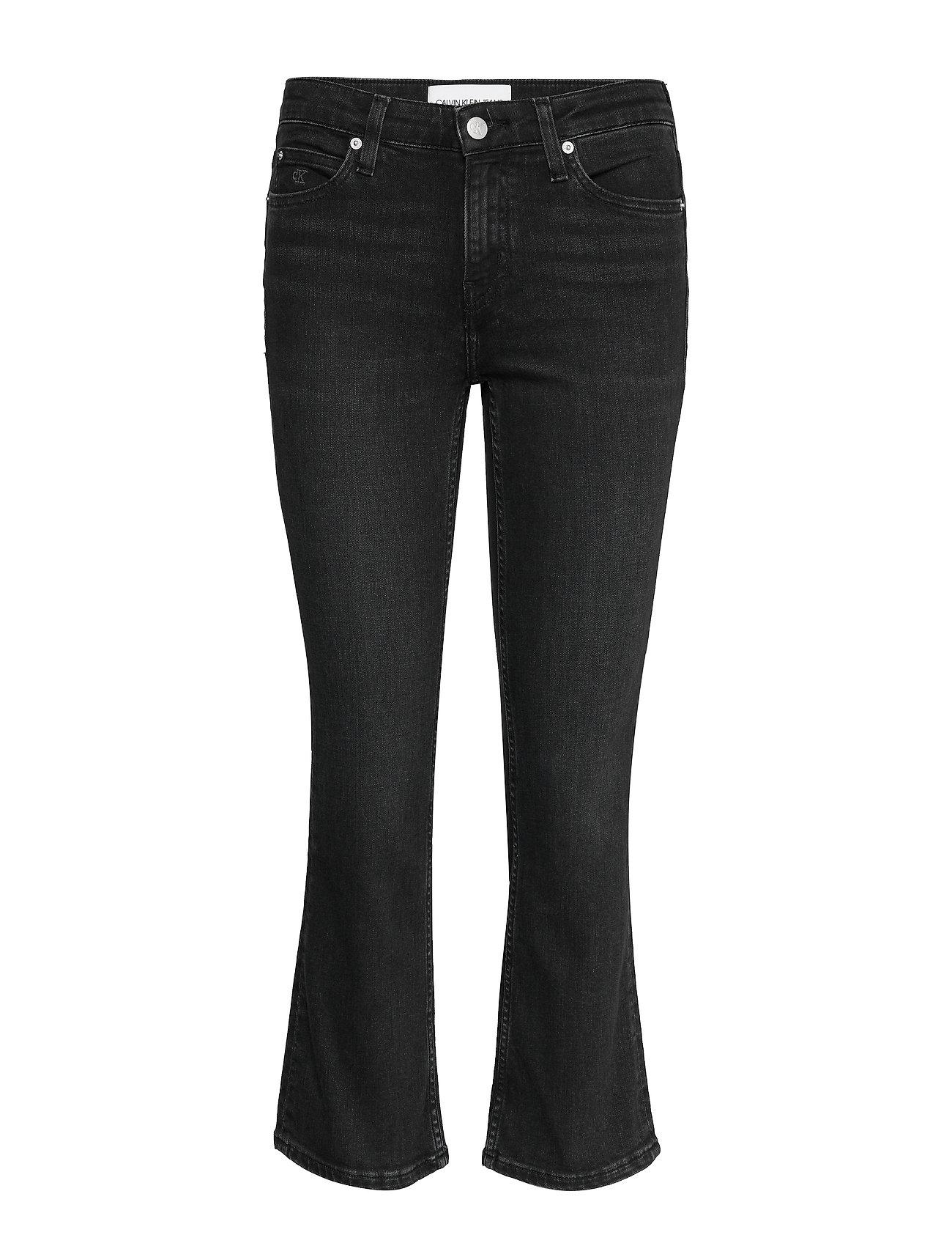 Calvin Klein Jeans MID RISE CROP FLARE - CA100 BLACK