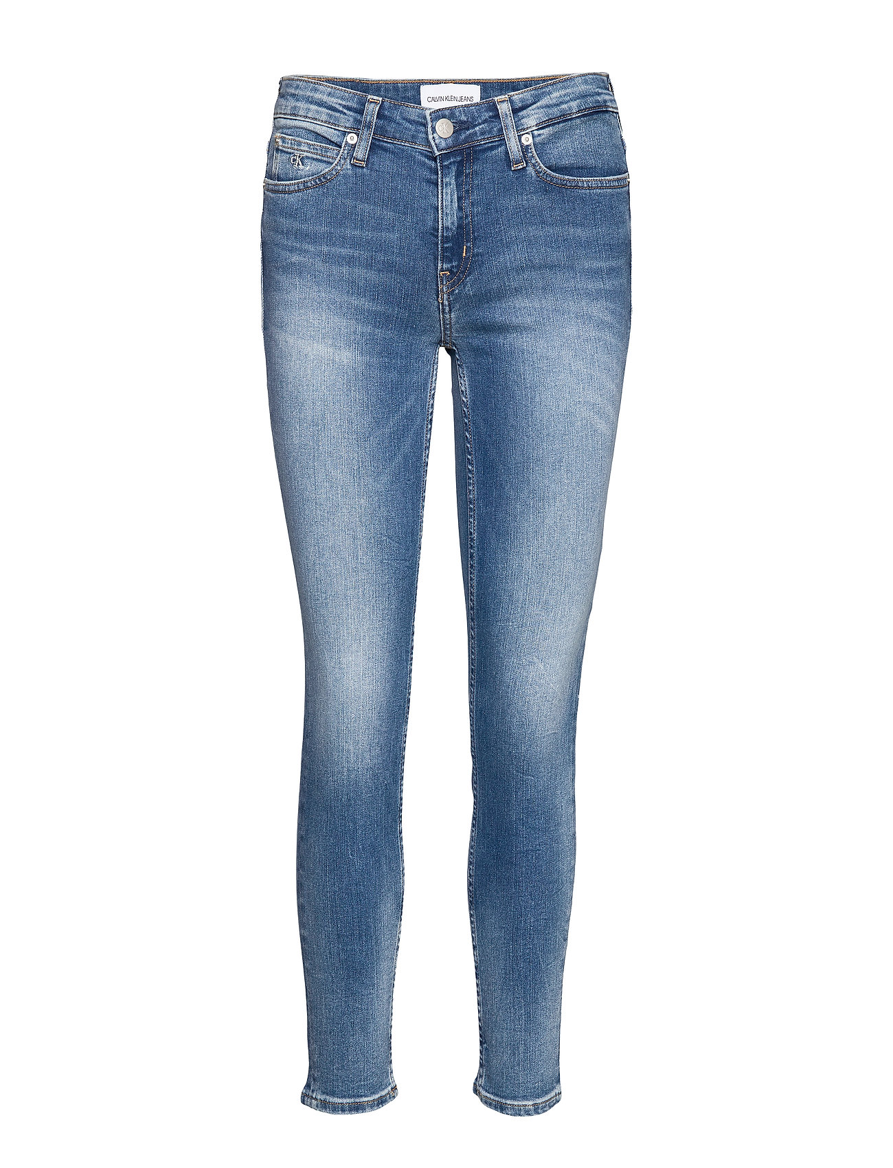 Calvin Klein Jeans CKJ 011 MID RISE SKINNY ANKLE - CA108 BLUE EMBROIDERY
