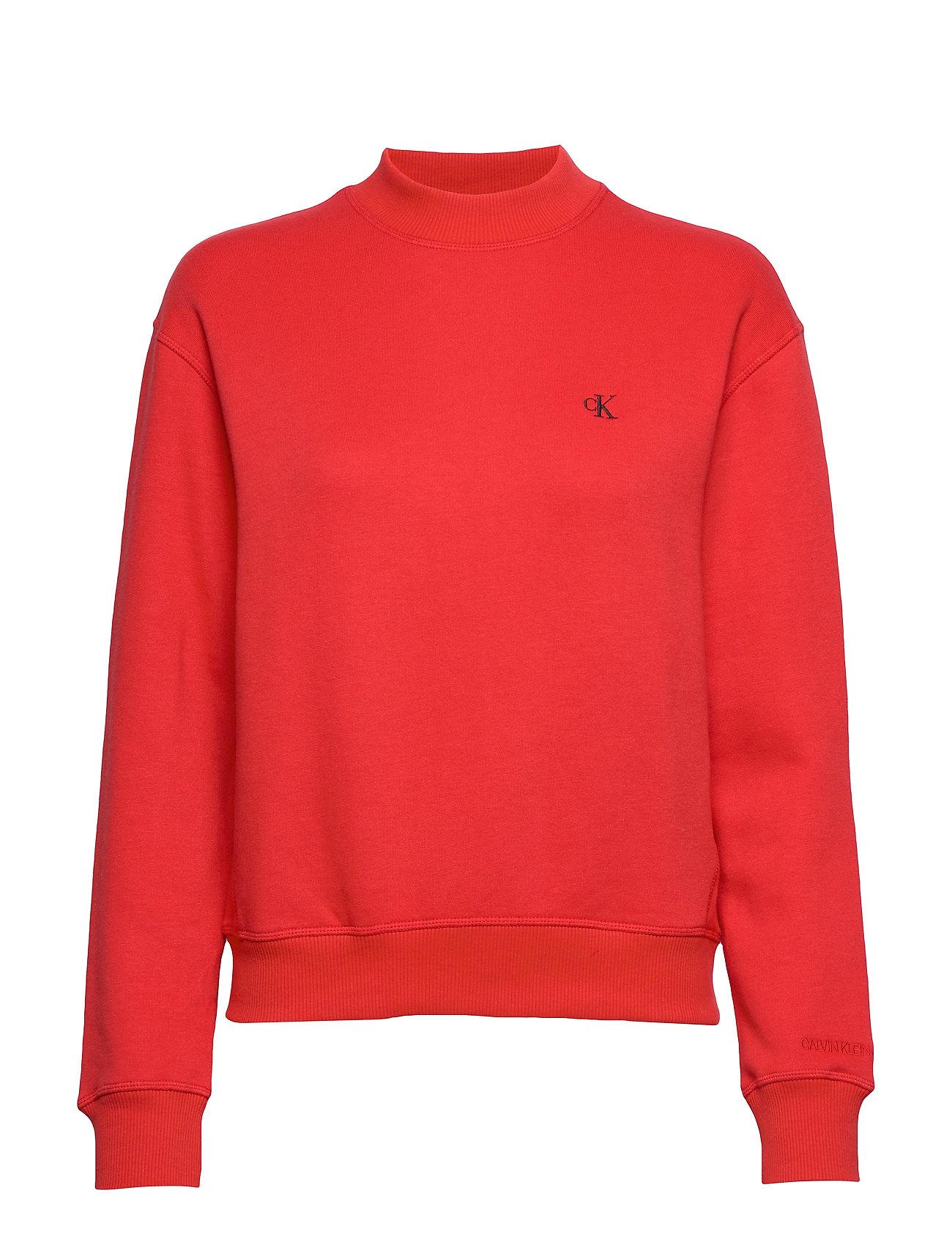 Calvin Klein Jeans CK EMBROIDERY REGULAR CREW NECK - RACING RED