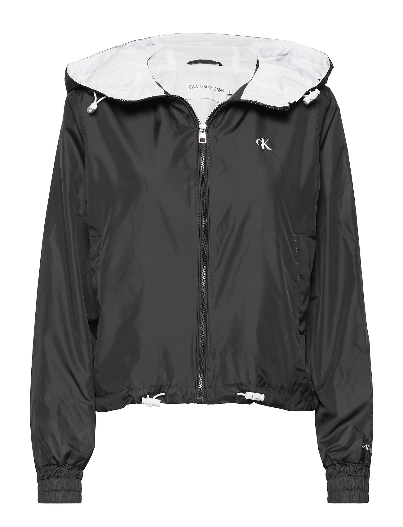 Calvin Klein Jeans POP COLOUR UNPADDED WINDBREAKER - CK BLACK/BRIGHT WHITE