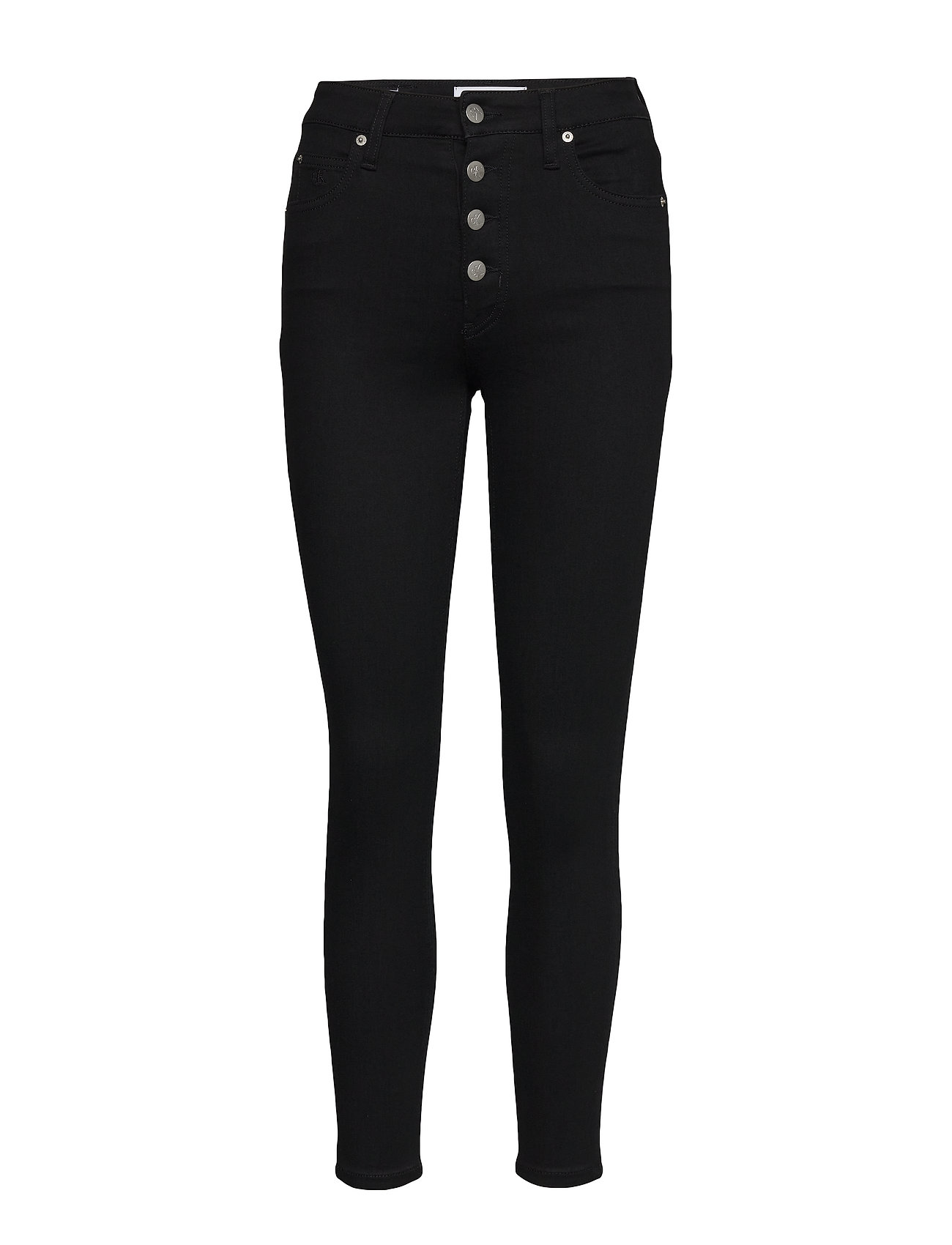 Image of High Rise Super Skinny Ankle Skinny Jeans Sort Calvin Klein Jeans (3406240747)