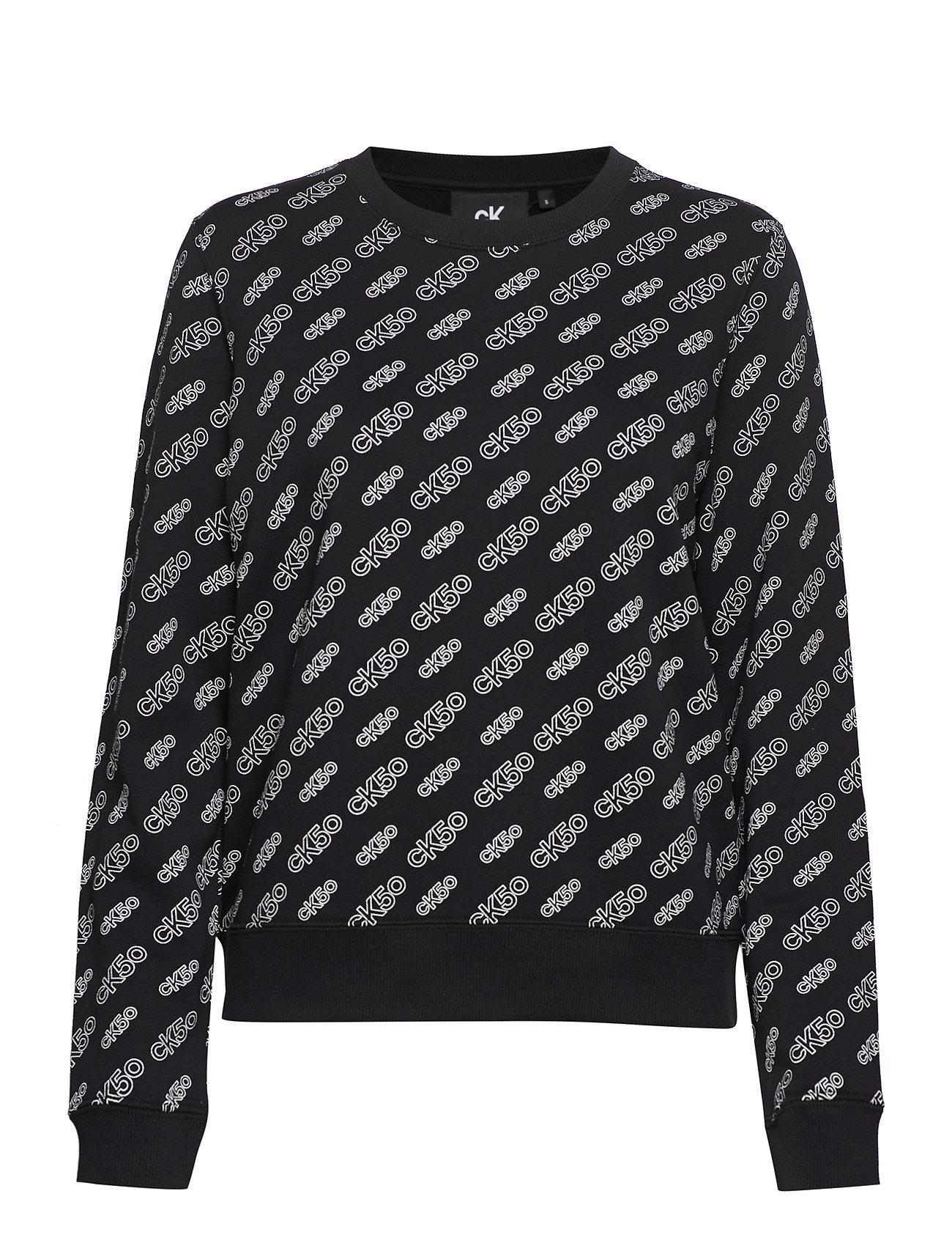Calvin Klein Jeans AOP CN REGULAR HWK - CK50 AOP BLACK/ WHITE LOGO