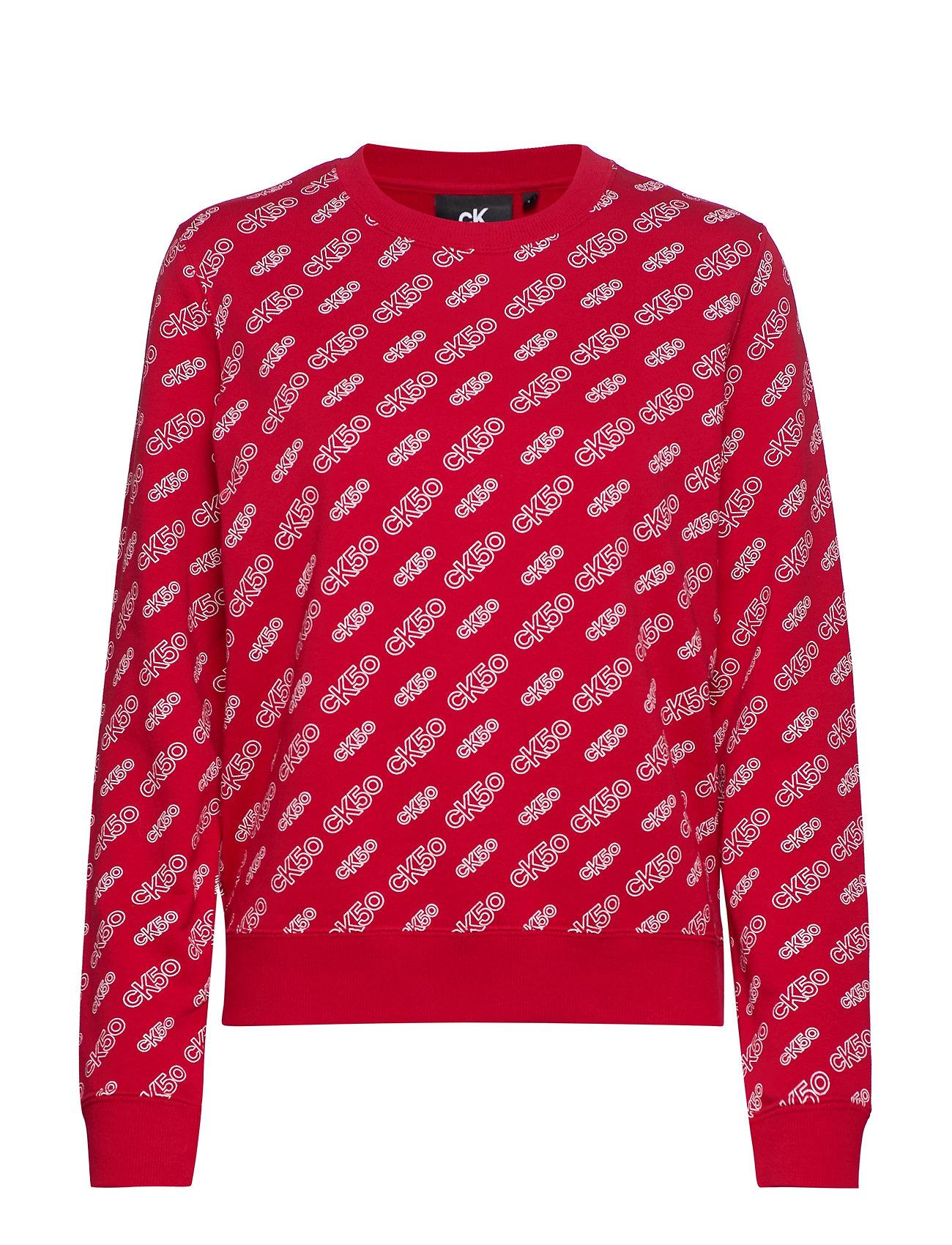 Calvin Klein Jeans AOP CN REGULAR HWK - CK50 AOP RED/ WHITE LOGO