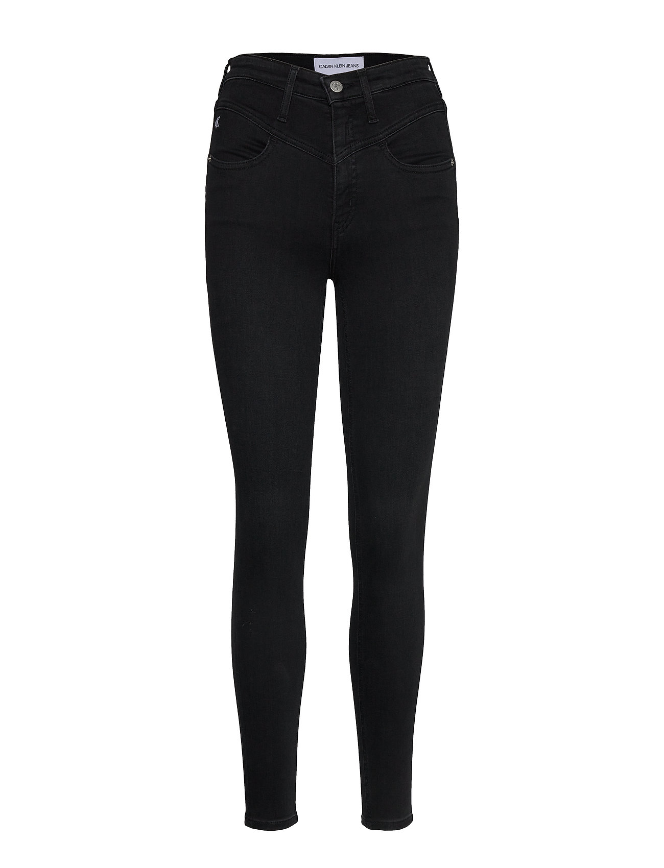 Image of High Rise Super Skinny Ankle Skinny Jeans Sort Calvin Klein Jeans (3425861153)