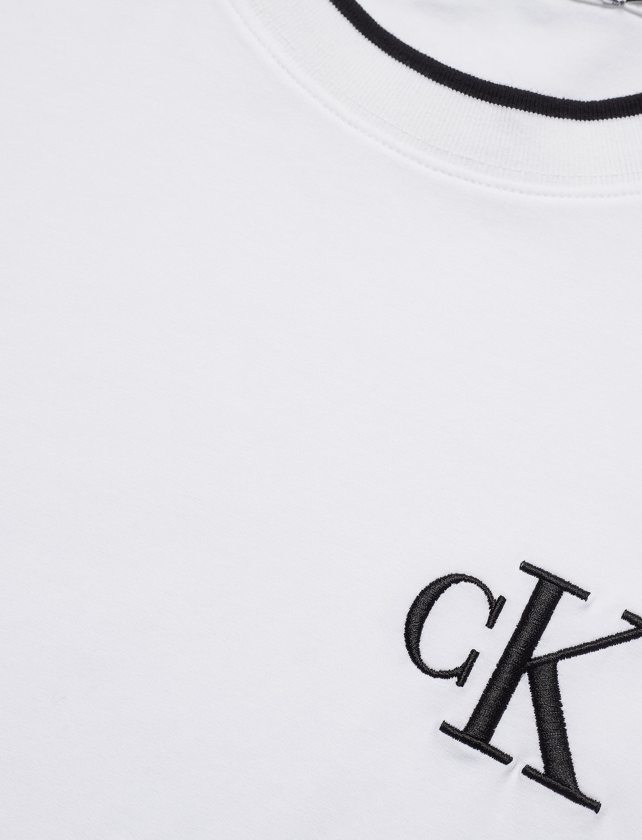 Ck Embroidery Tipping Tee (Bright White) (500 kr) - Calvin Klein Jeans