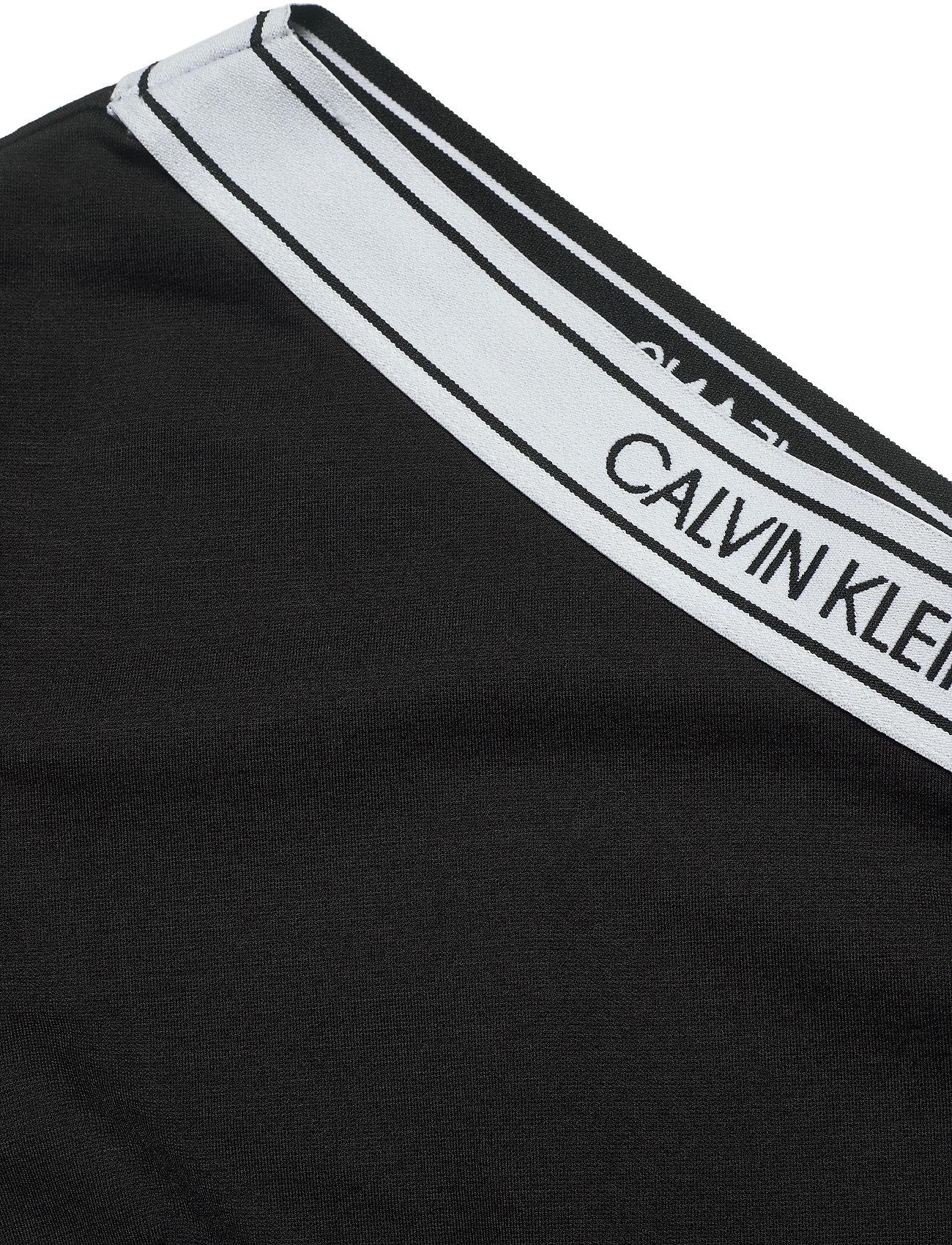 Asymm Milano Logo Fitted Dress (Ck Black) (1500 kr) - Calvin Klein Jeans
