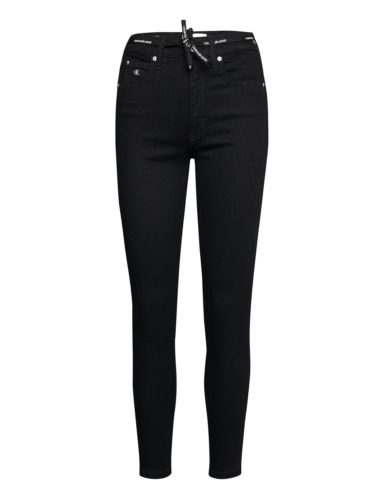 Image of High Rise Super Skinny Ankle Skinny Jeans Sort Calvin Klein Jeans (3486967895)