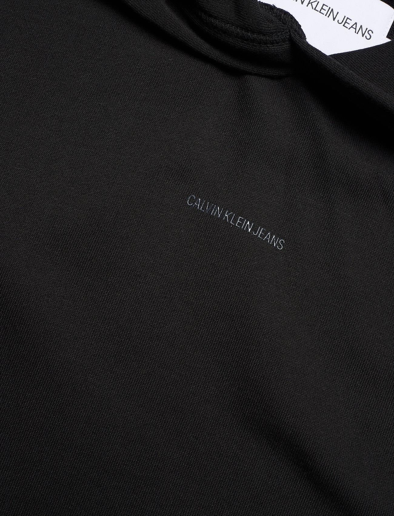 Calvin Klein Jeans - LOGO TRIM HOODIE DRESS - summer dresses - ck black - 4