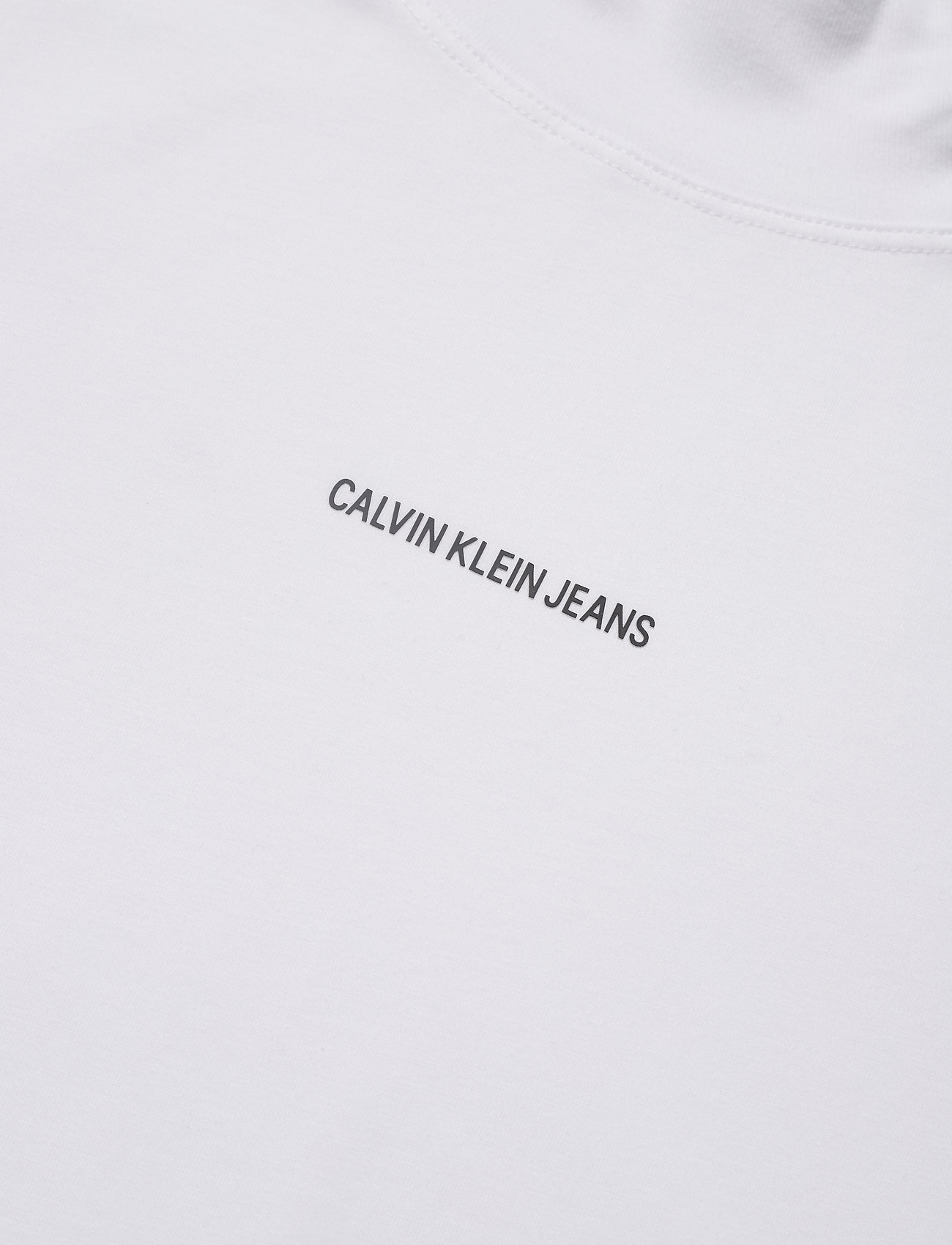 Calvin Klein Jeans - UNISEX MICRO BRANDING MOCK NECK - basic t-shirts - bright white - 2
