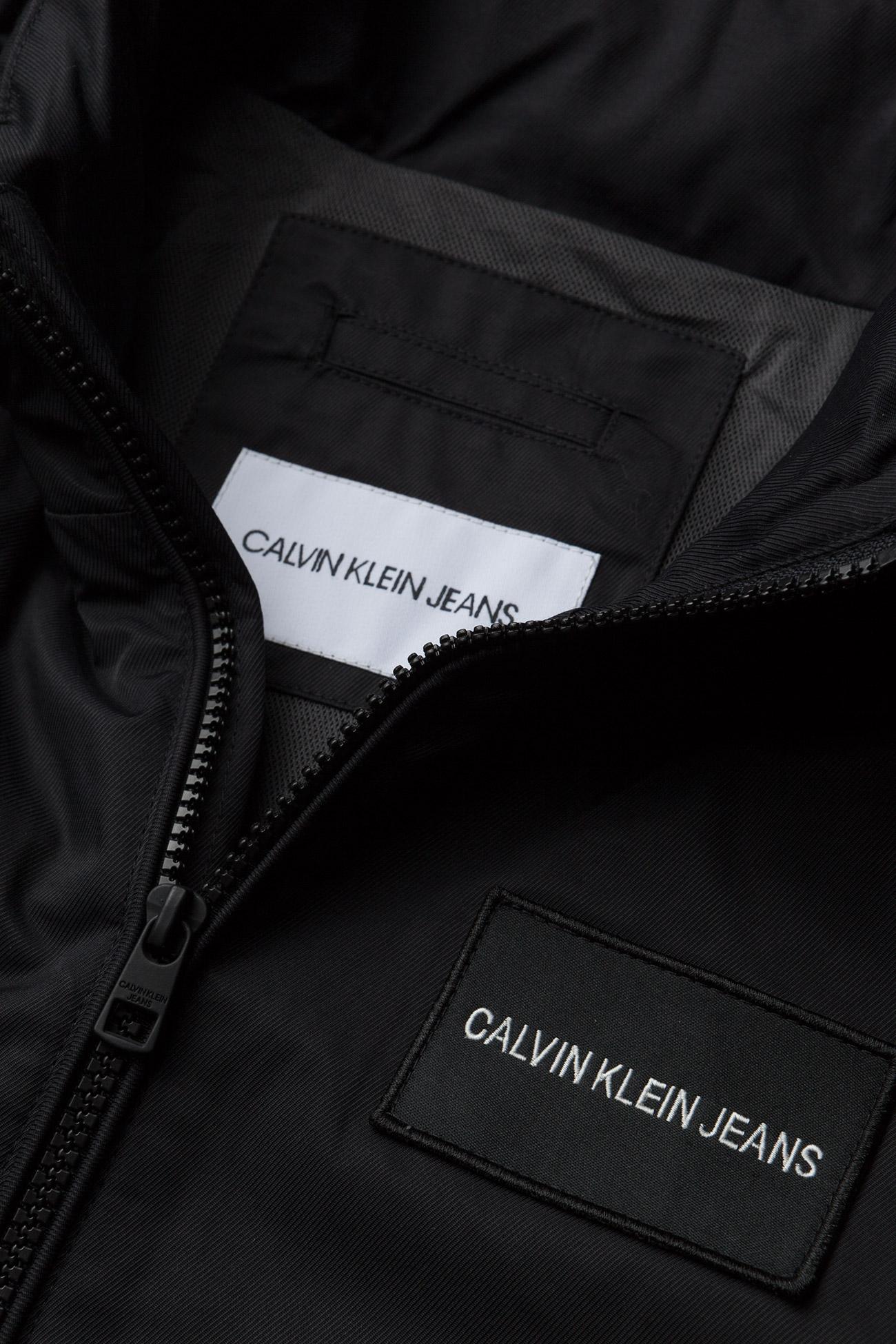 Hooded Jacketck BlackCalvin Technical Logo Klein Jeans wOPiZukXT
