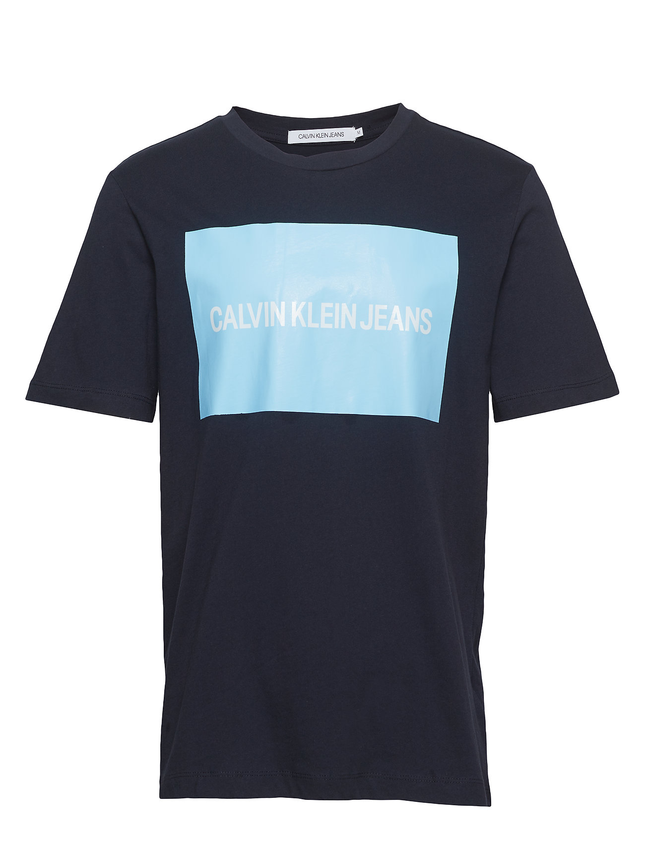 66992243ff06 Calvin Klein Jeans Institutional Box Logo Tee (Night Sky/black ...