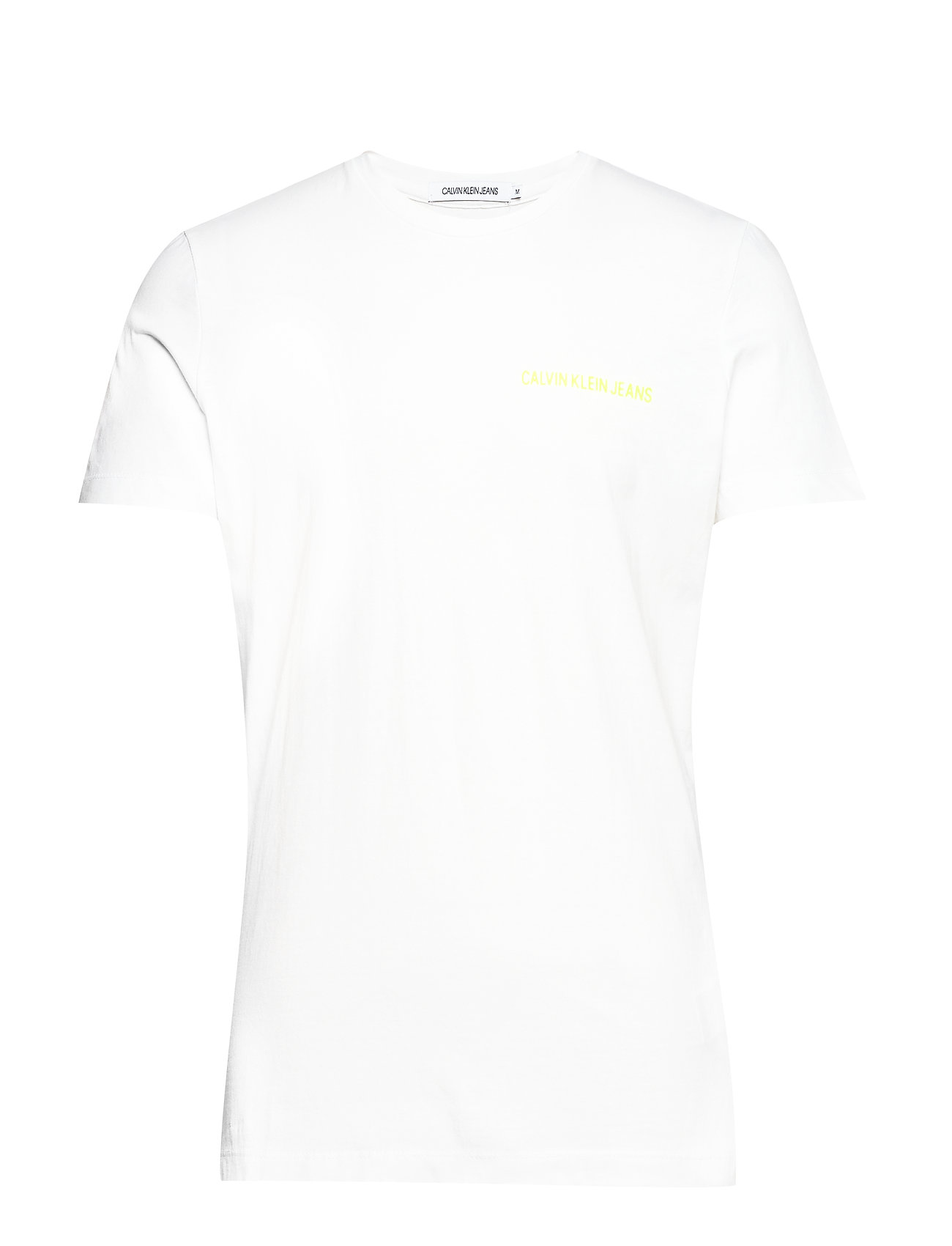 Calvin Klein Jeans CHEST INSTITUTIONAL - BRIGHT WHITE / SAFETY YELLOW