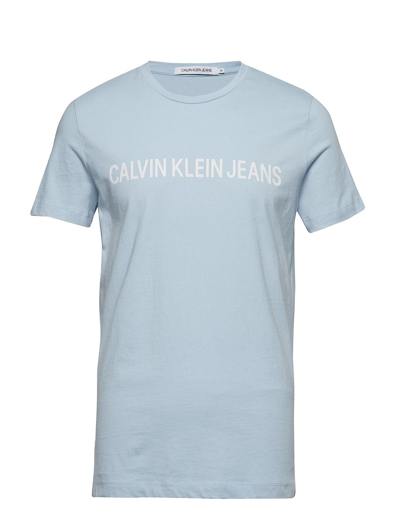 Calvin Klein Jeans INSTITUTIONAL SLIM LOGO TEE - SKYWAY/WHITE