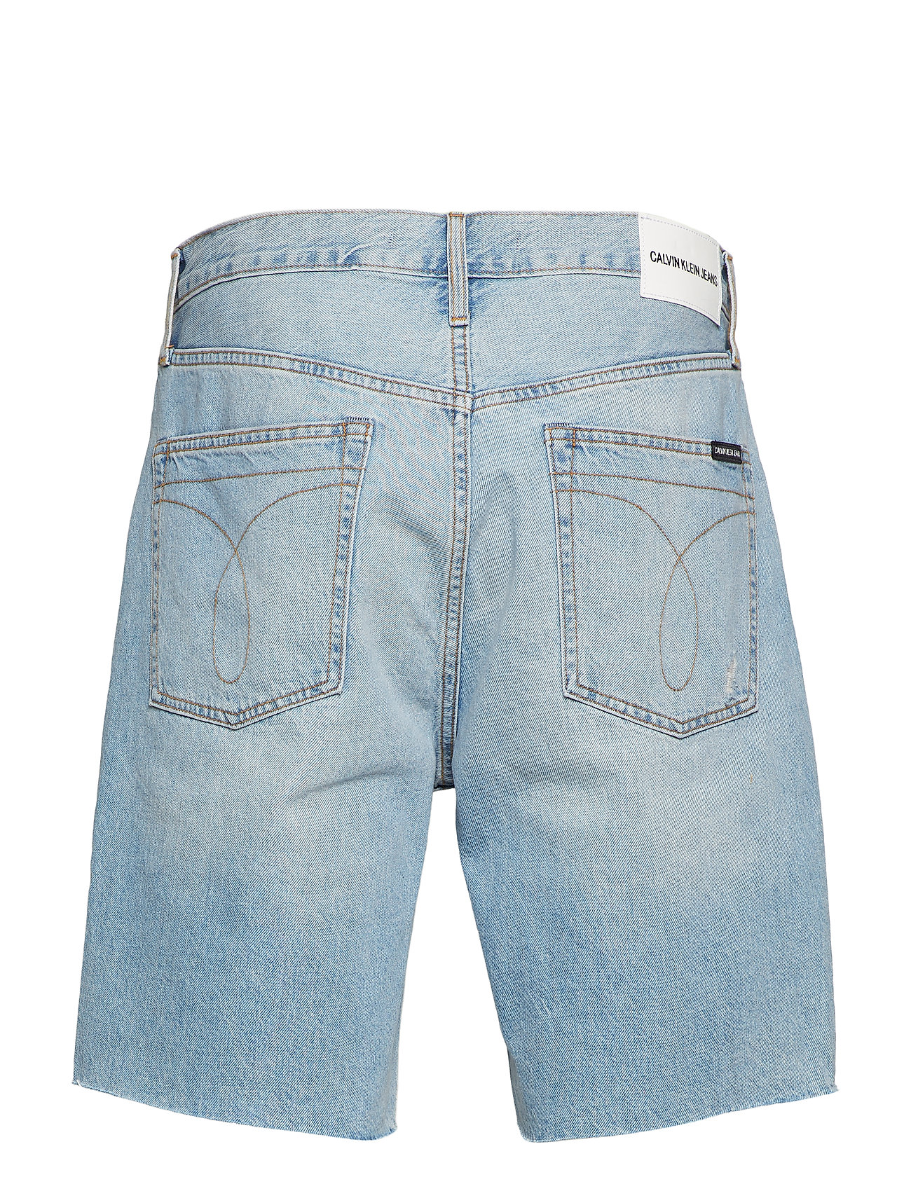 Calvin Klein Jeans - STRAIGHT SHORT - denim shorts - painters blue raw - 1