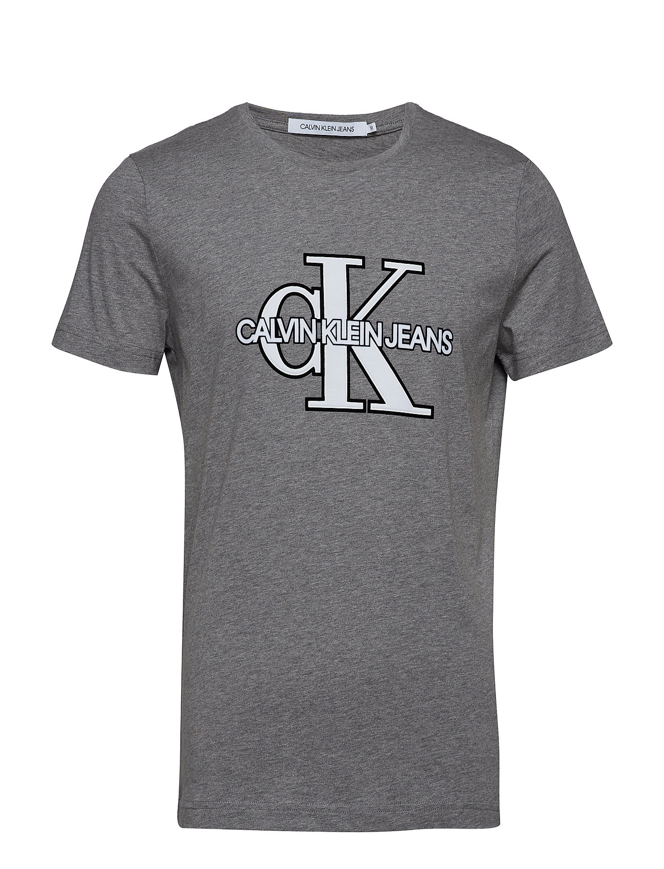 Calvin Klein Jeans CK MONOGRAM FRONT LOGO SLIM SS - GREY HEATHER