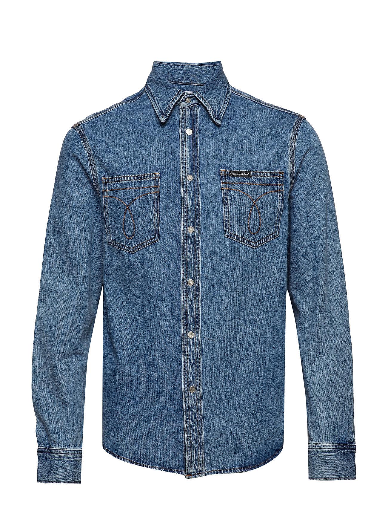 c71a04be58 Long Sleeve Utility Omega Shirt (Iconic Mid Stone) (900 kr) - Calvin ...