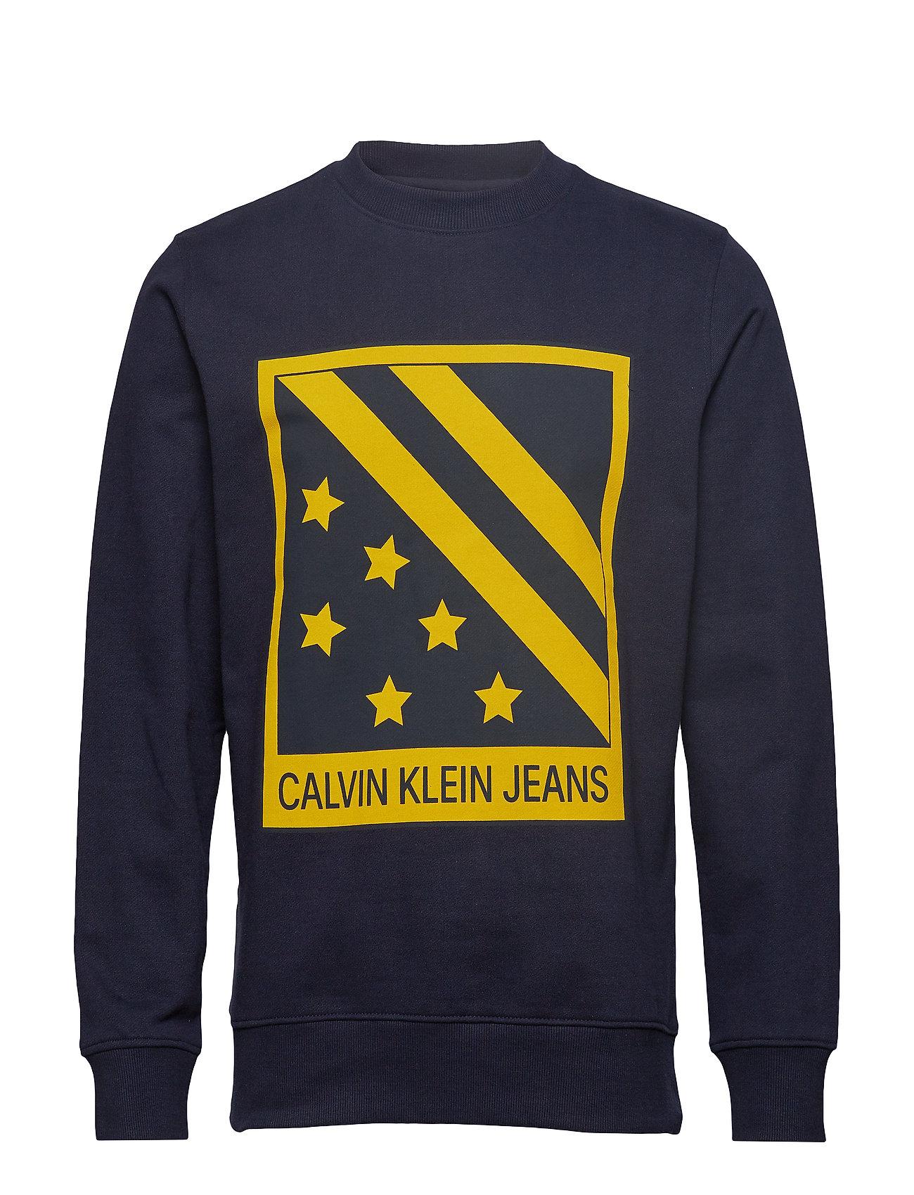 SkyCalvin Big Jeans Chest Crewnight Badge Klein jpqVSUGLzM