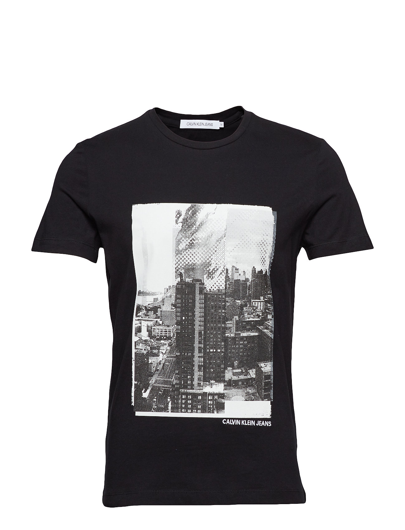 Calvin Klein Jeans LANDSCAPE GRAPHIC SL - CK BLACK / WHITE