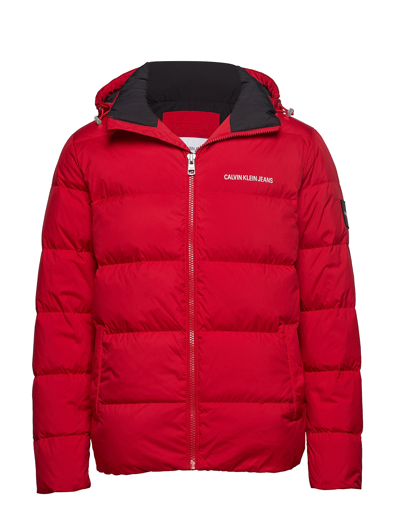 Calvin Klein Jeans HOODED DOWN PUFFER J - RACING RED