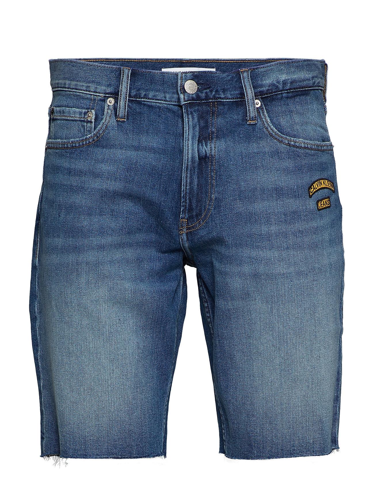 Calvin Klein Jeans SLIM SHORT - BERGER BLUE WESTERN BADGES ROL