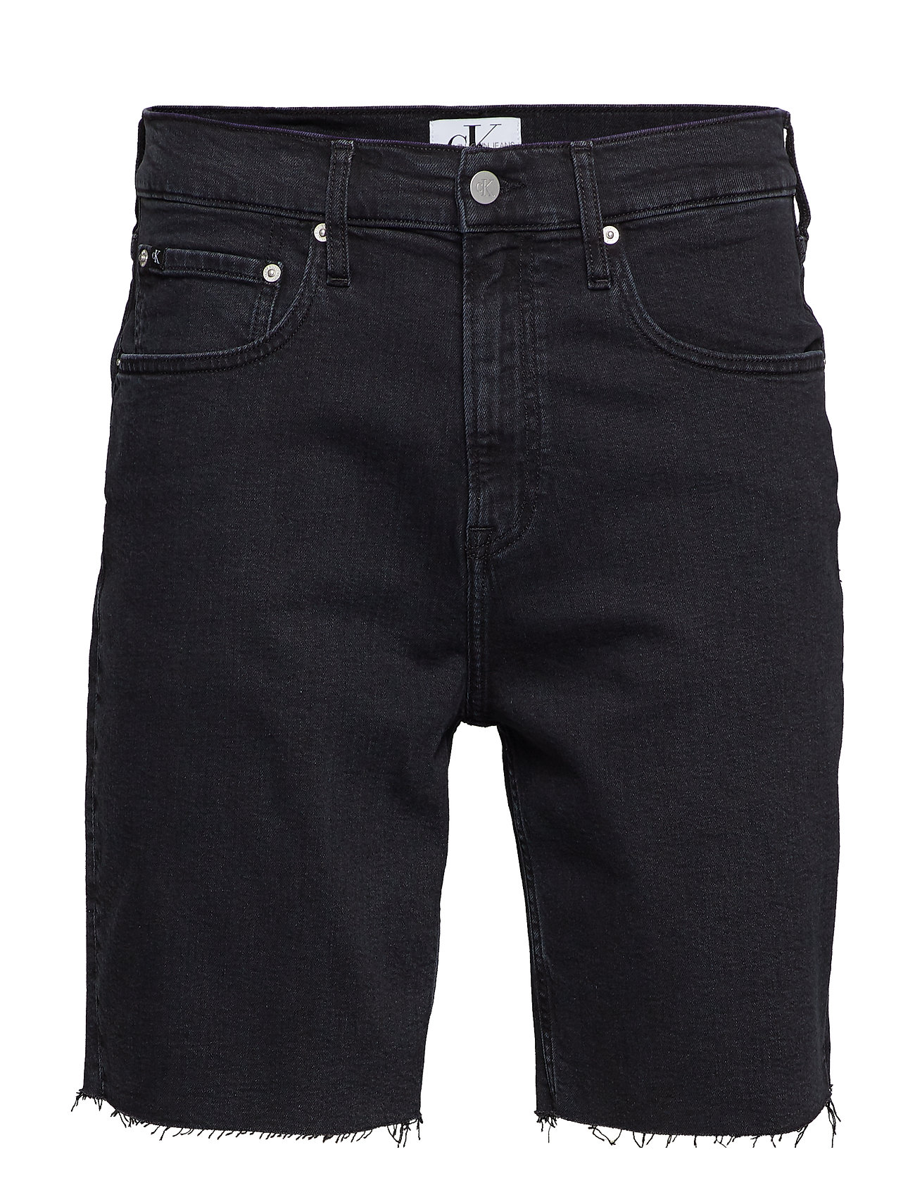 Calvin Klein Jeans STRAIGHT SHORT - ICONIC BLACK STONE CMF