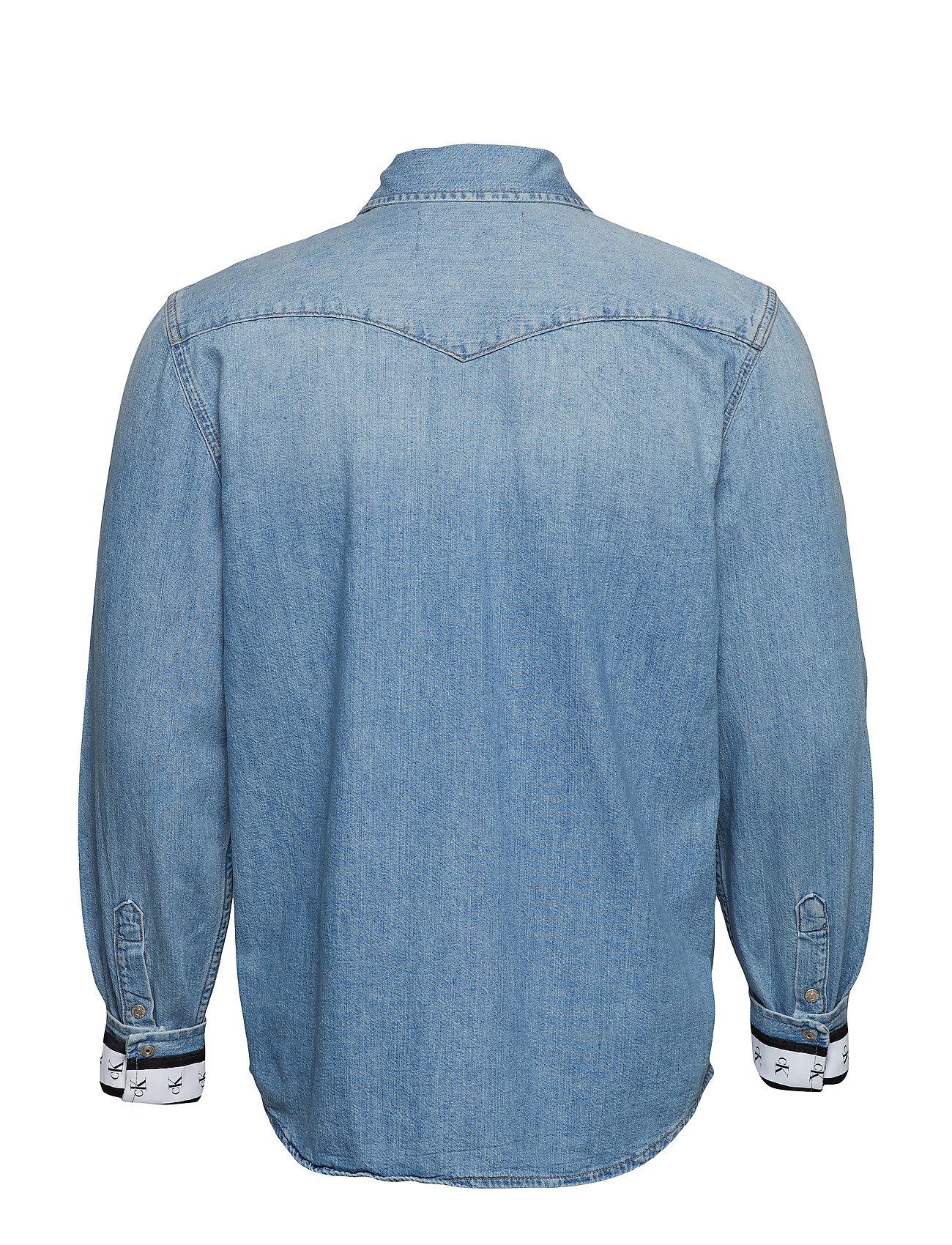 Sba067 Foundation Klein Cuff MonoCalvin Jeans Western Blue wvn0ONm8