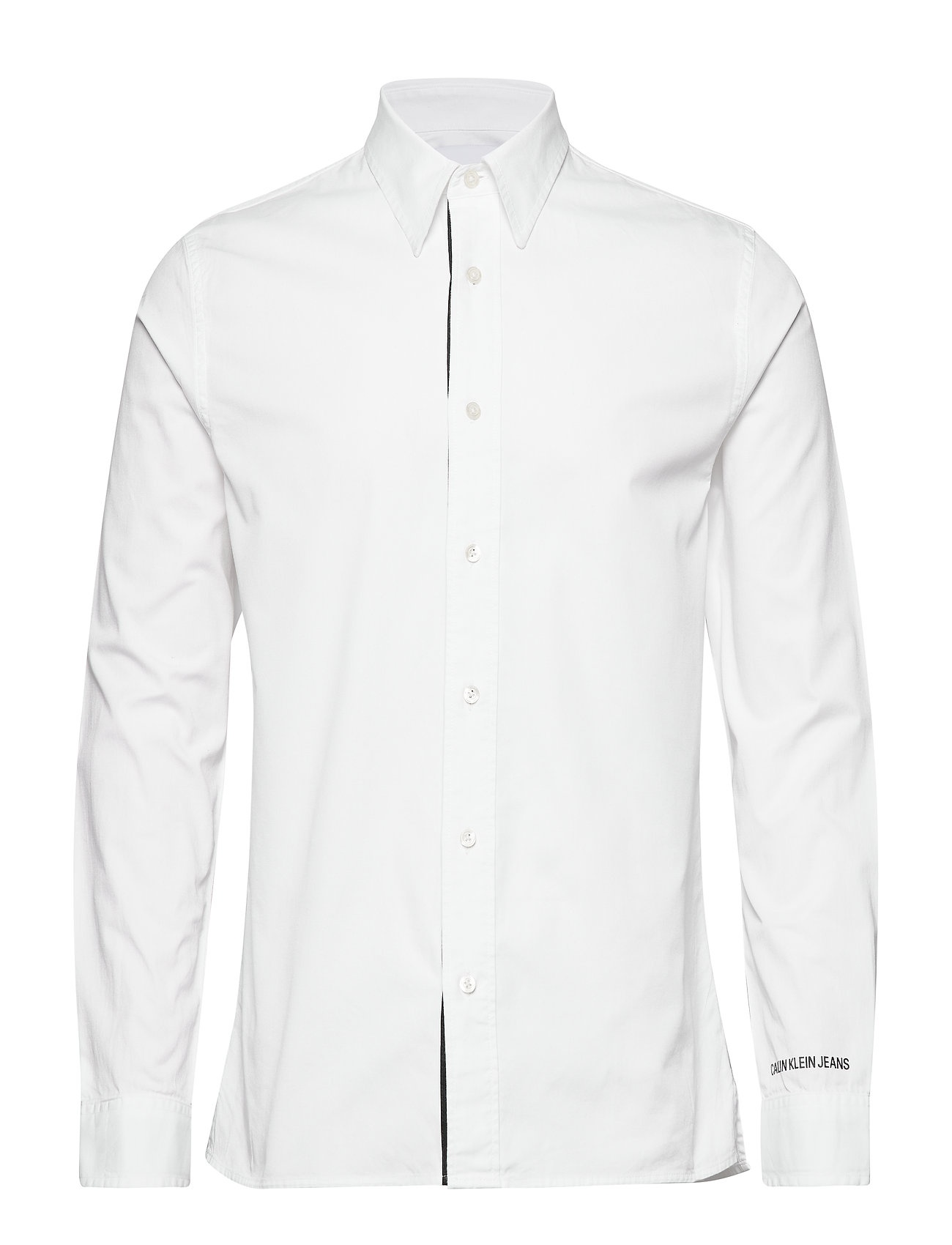 Calvin Klein Jeans MONOGRAM TAPE REG SHIRT - BRIGHT WHITE