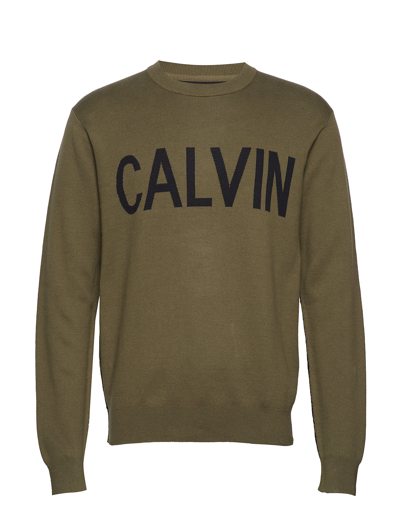 Calvin Klein Jeans CALVIN CN SWEATER - GRAPE LEAF / BLACK