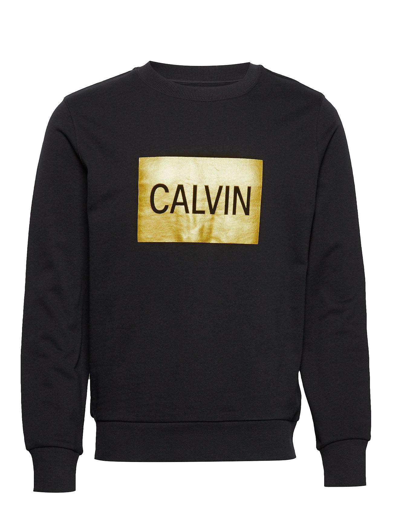 Calvin Klein Jeans CALVIN BOX REGULAR CREW NECK - CK BLACK / GOLD