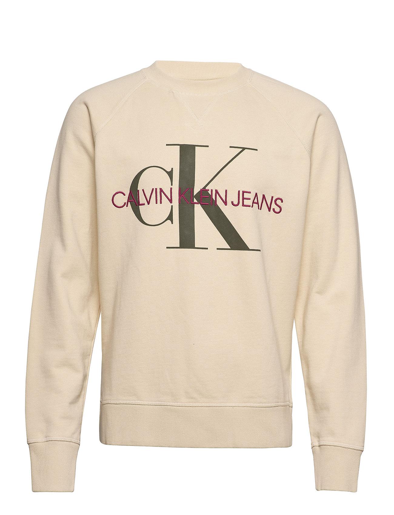 Calvin Klein Jeans WASHED REG MONOGRAM CN - BLEACHED SAND