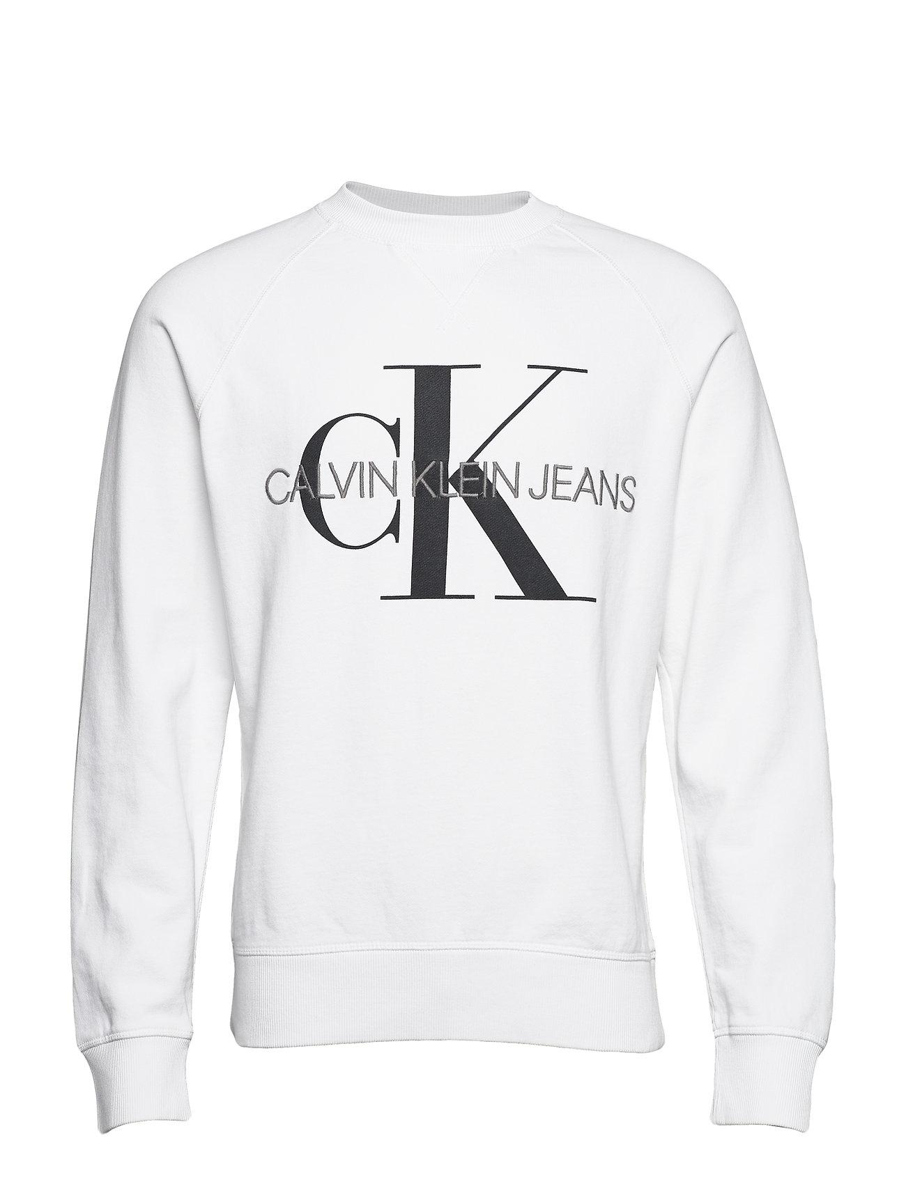 Calvin Klein Jeans WASHED REG MONOGRAM CN - BRIGHT WHITE