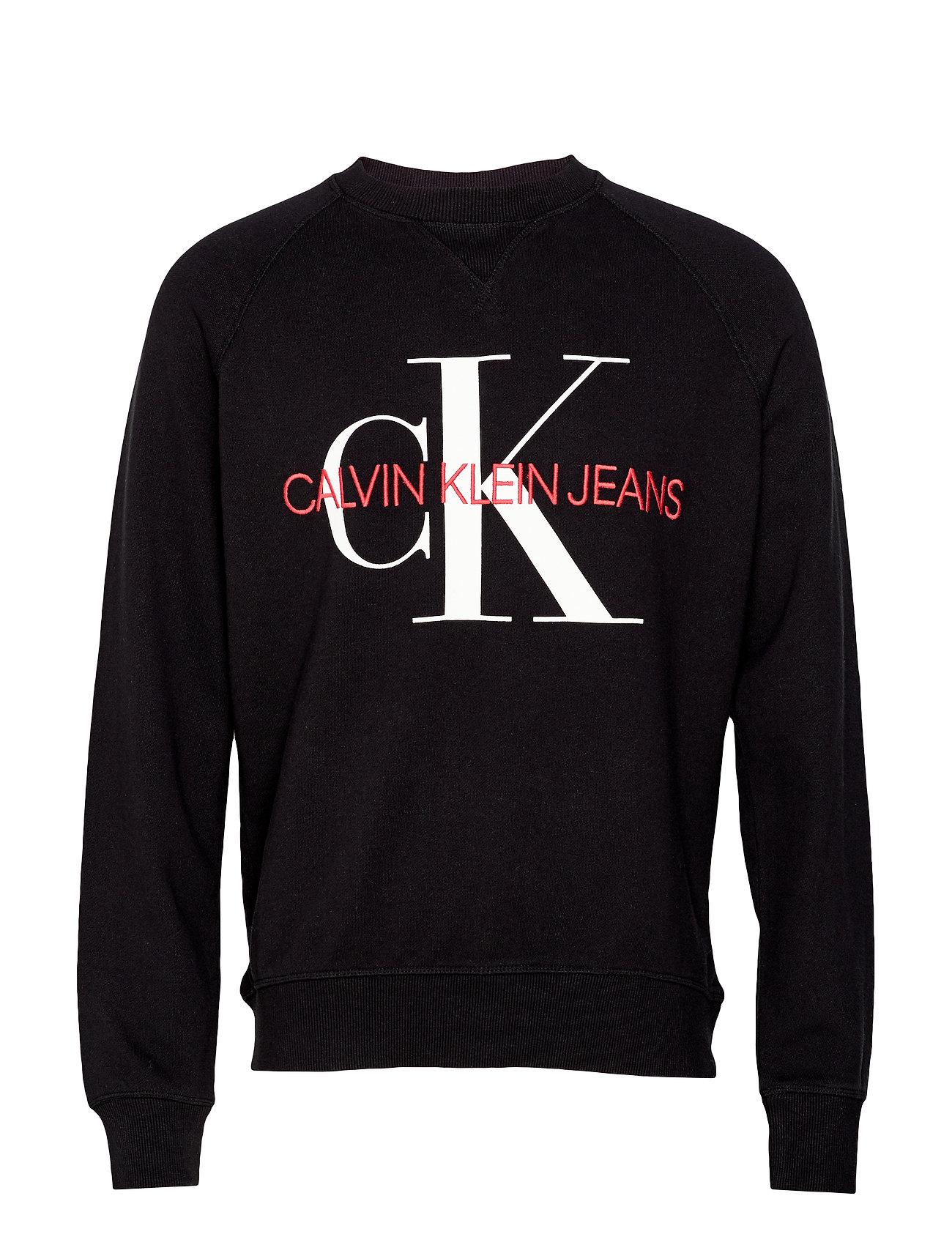 Calvin Klein Jeans WASHED REG MONOGRAM CN - CK BLACK