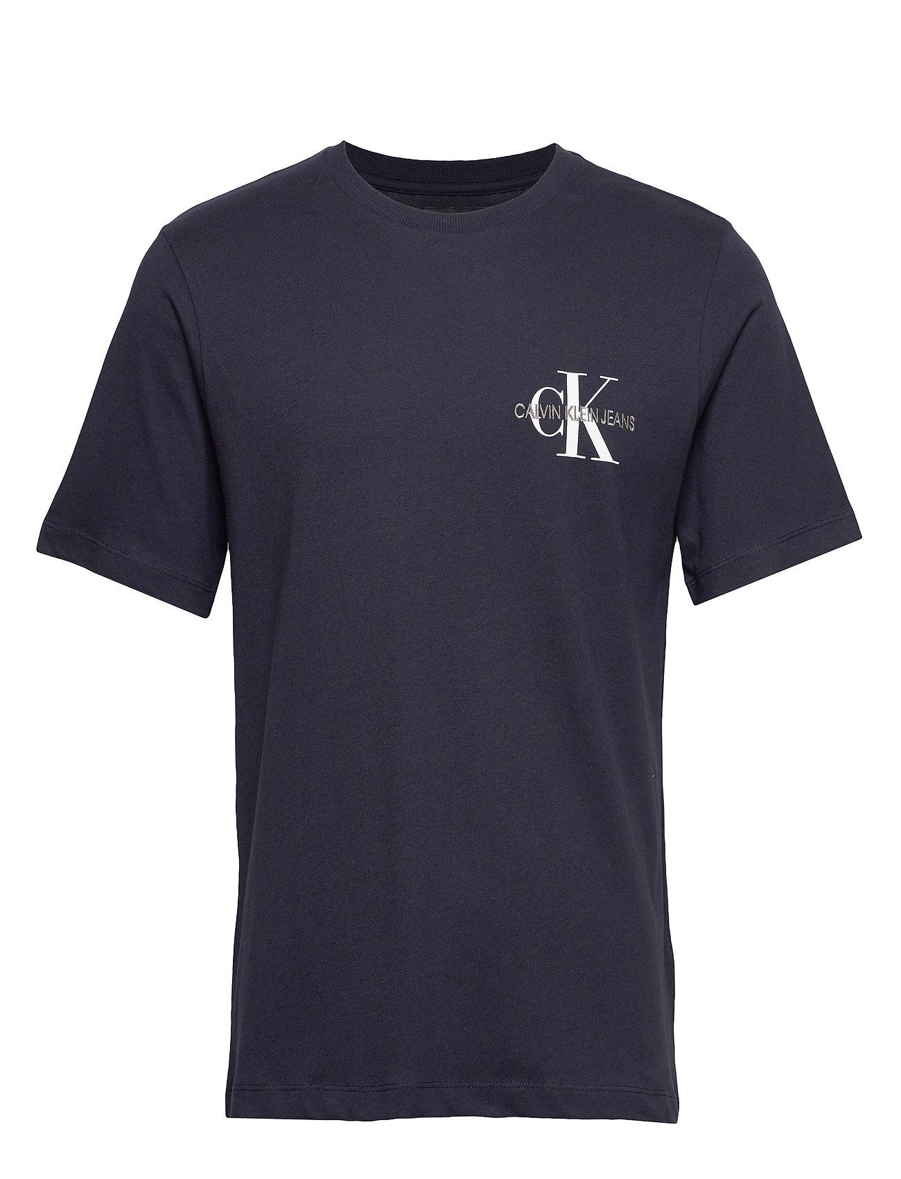 Calvin Klein Jeans MONOGRAM EMBRO REG CHEST SS - NIGHT SKY