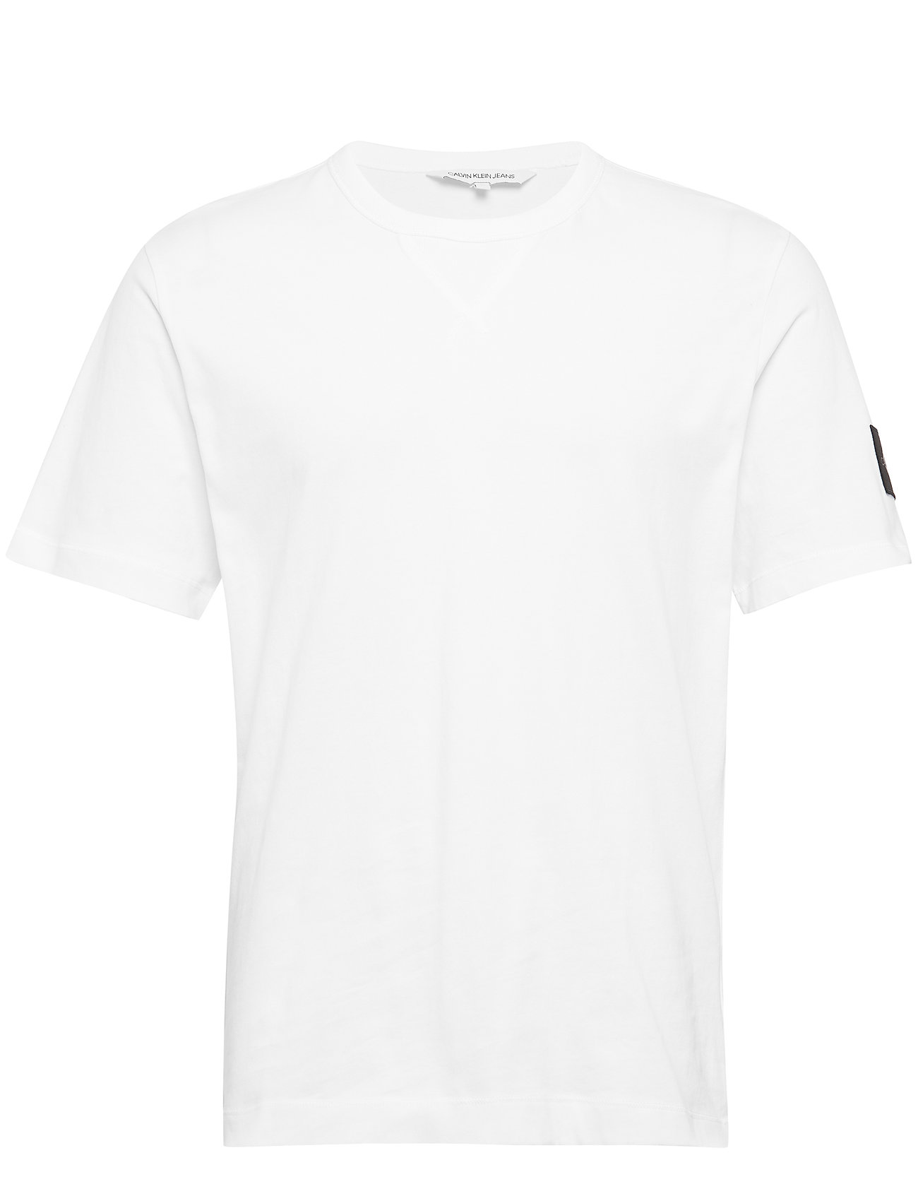 Calvin Klein Jeans MONOGRAM SLEEVE BADG - BRIGHT WHITE