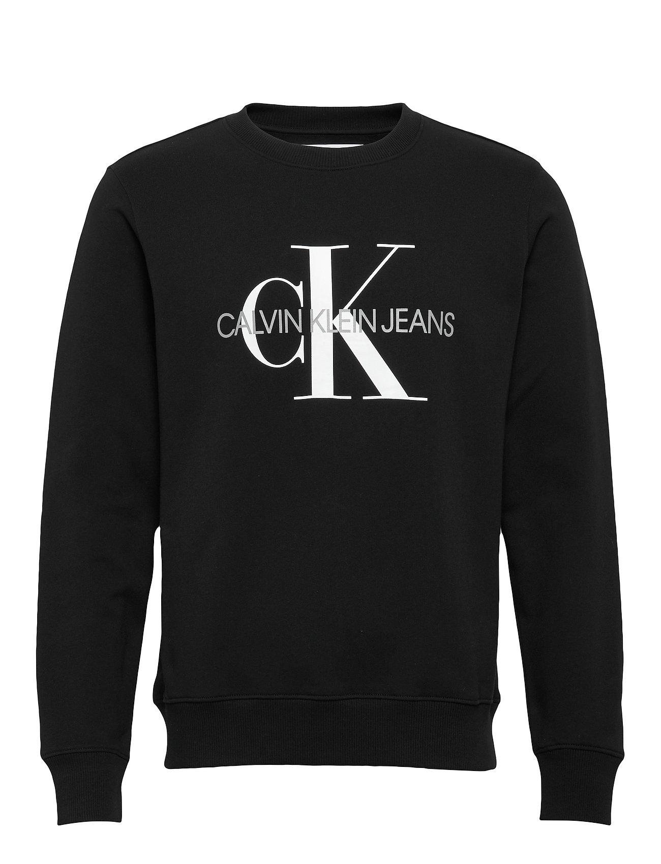 Calvin Klein Jeans ICONIC MONOGRAM CREWNECK - CK BLACK