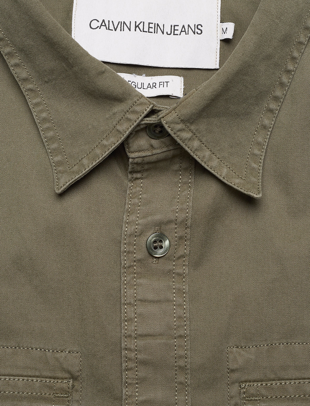 Calvin Klein Jeans Gmd Utility Reg Shir - Skjortor New Basil