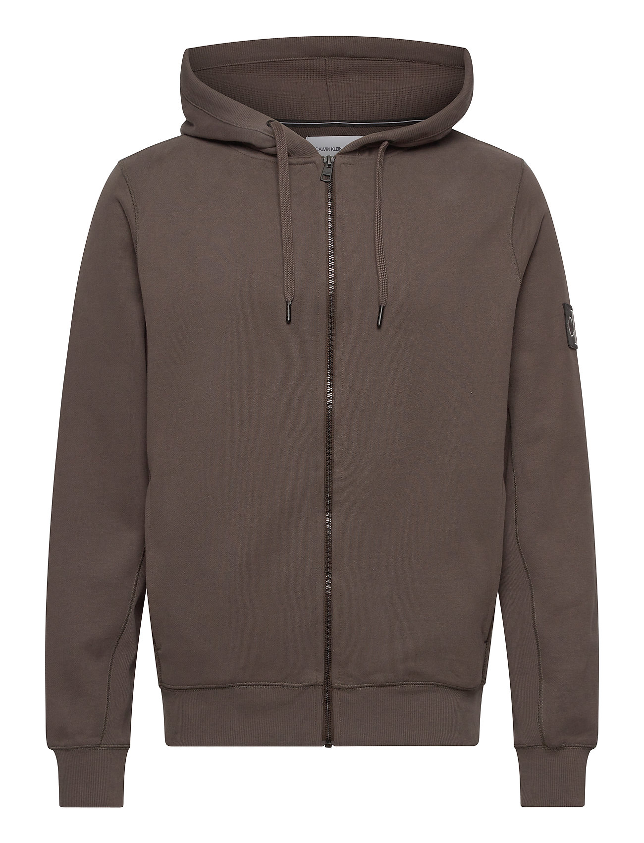 Image of Monogram Badge Zip Up Hoodie Hoodie Trøje Grå Calvin Klein Jeans (3441397427)