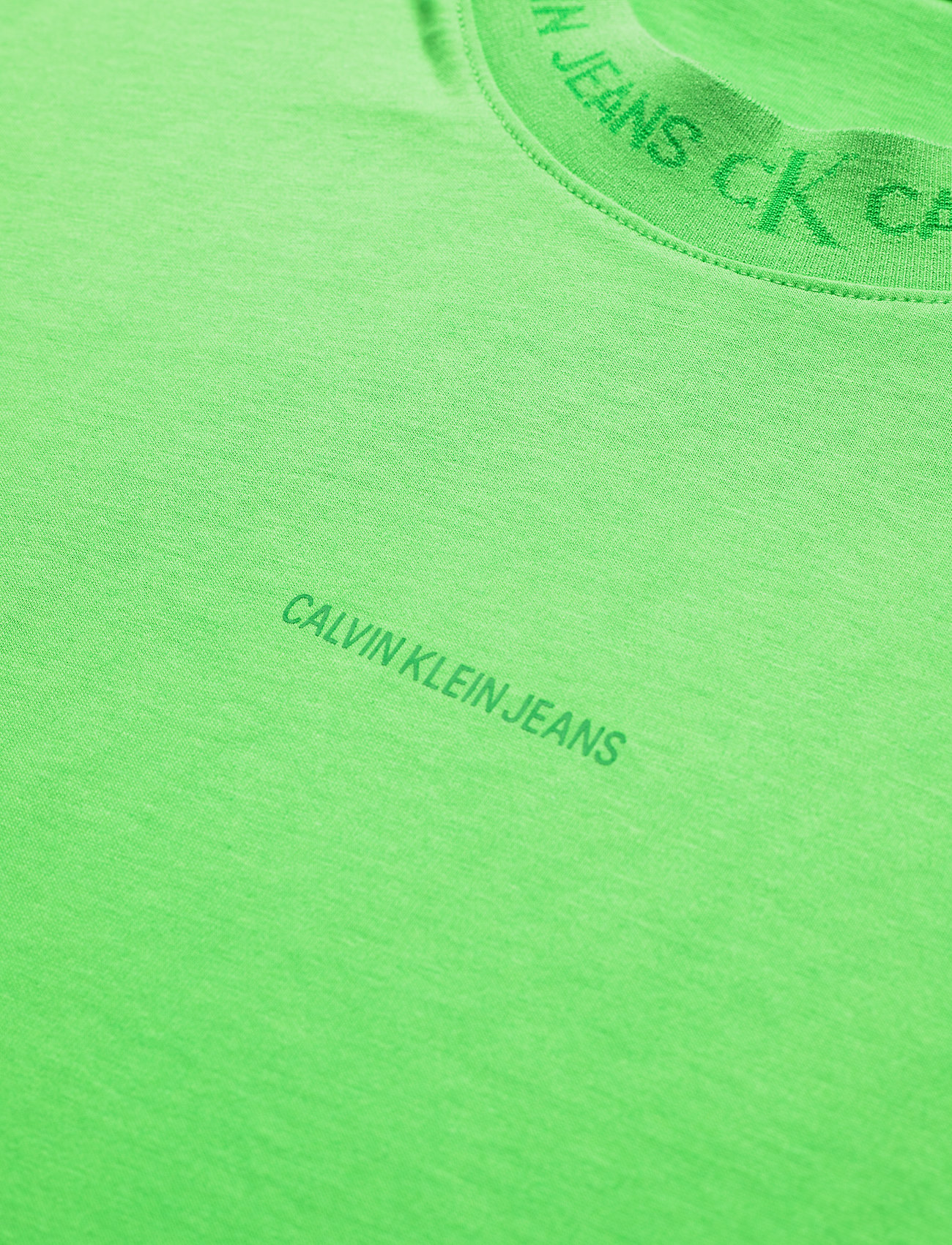 Calvin Klein Jeans - LOGO JACQUARD TEE - t-shirts basiques - acid green - 2