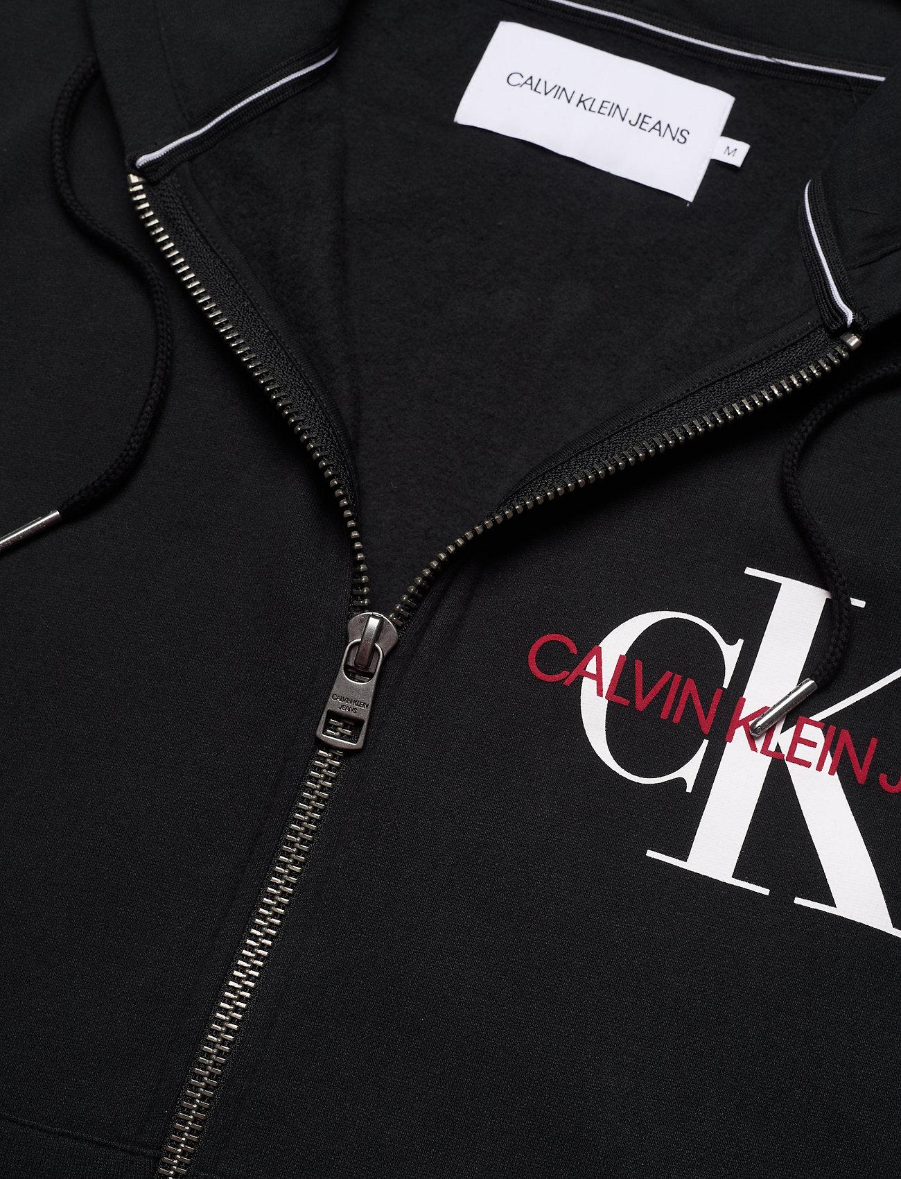 Calvin Klein Jeans - ZIP THRU MONOGRAM HOODIE - bluzy z kapturem - ck black - 2
