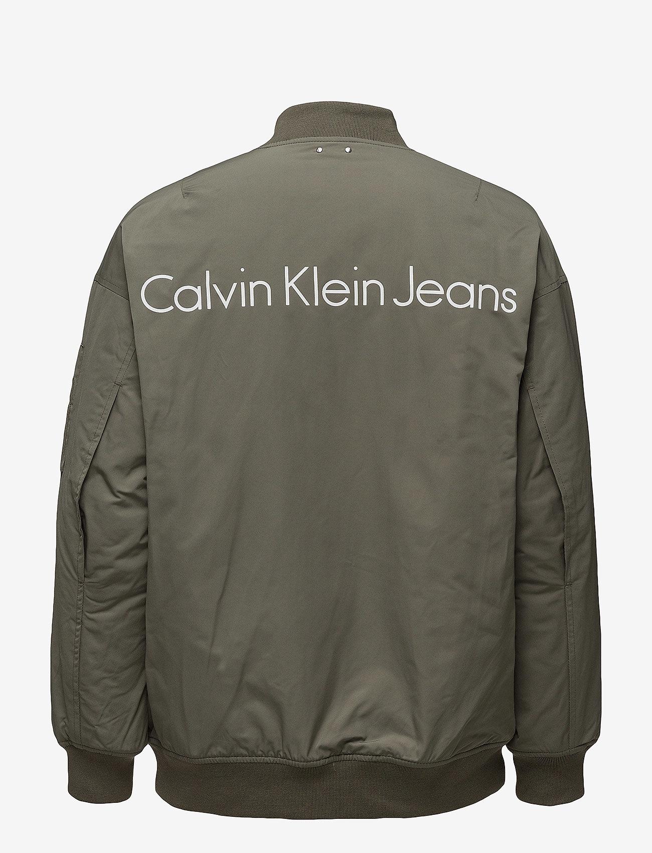 Calvin Klein Jeans - OLVA LW PADDED LOGO BOMBER - bomber jakker - dusty olive - 1