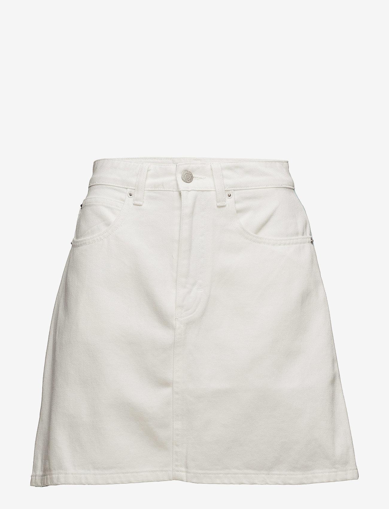 Calvin Klein Jeans - High Rise Mini Skirt Stripe - lyhyet - white