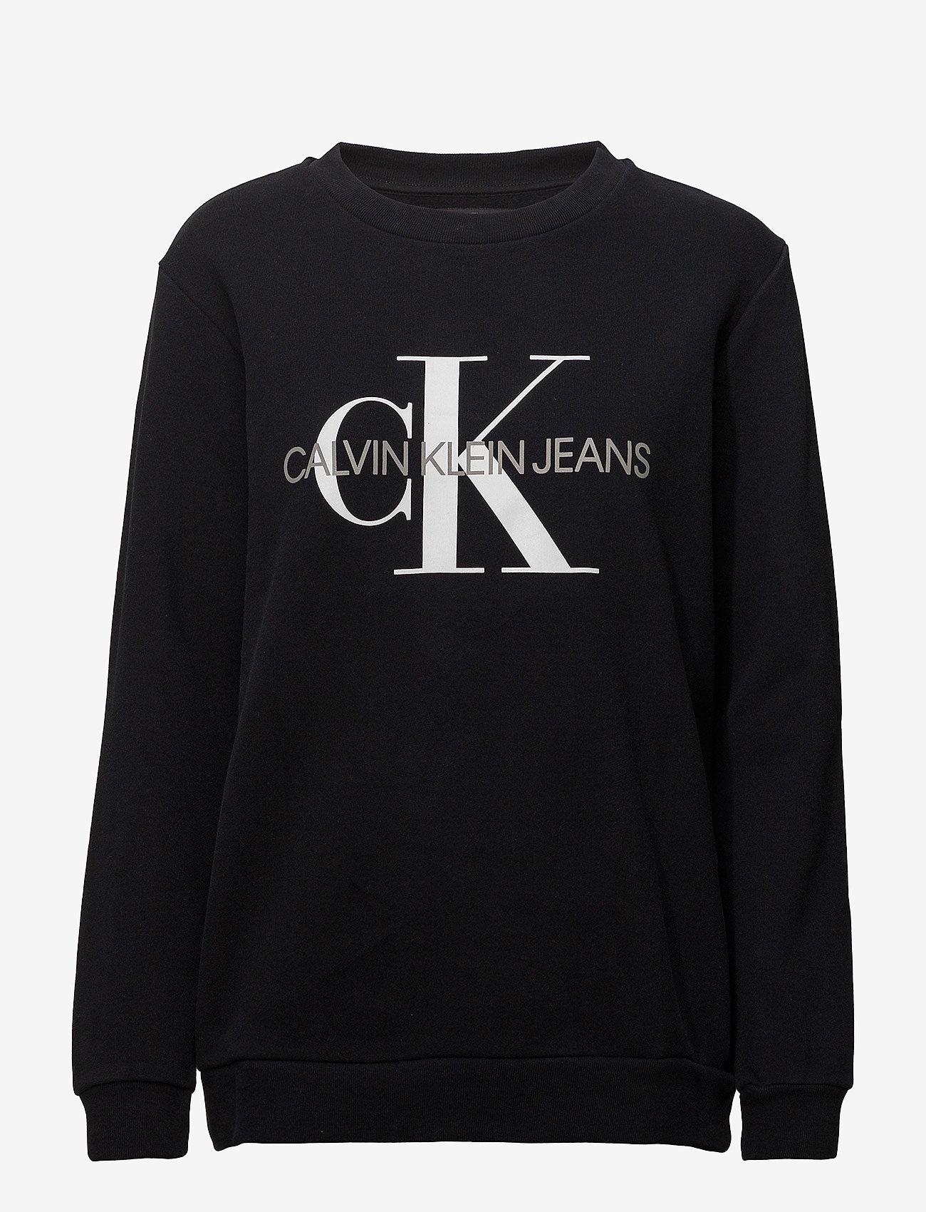 Calvin Klein Jeans - CORE MONOGRAM LOGO SWEATSHIRT - sweatshirts - ck black - 0
