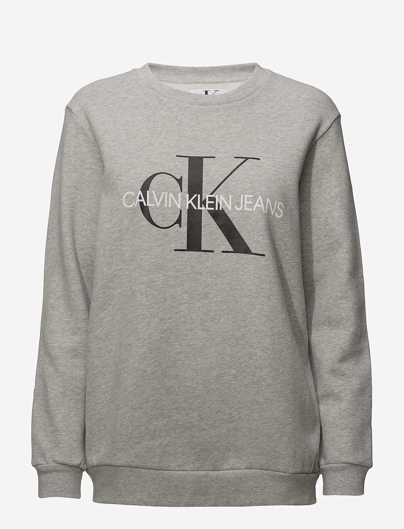 Calvin Klein Jeans - CORE MONOGRAM LOGO SWEATSHIRT - sweatshirts - light grey heather - 0