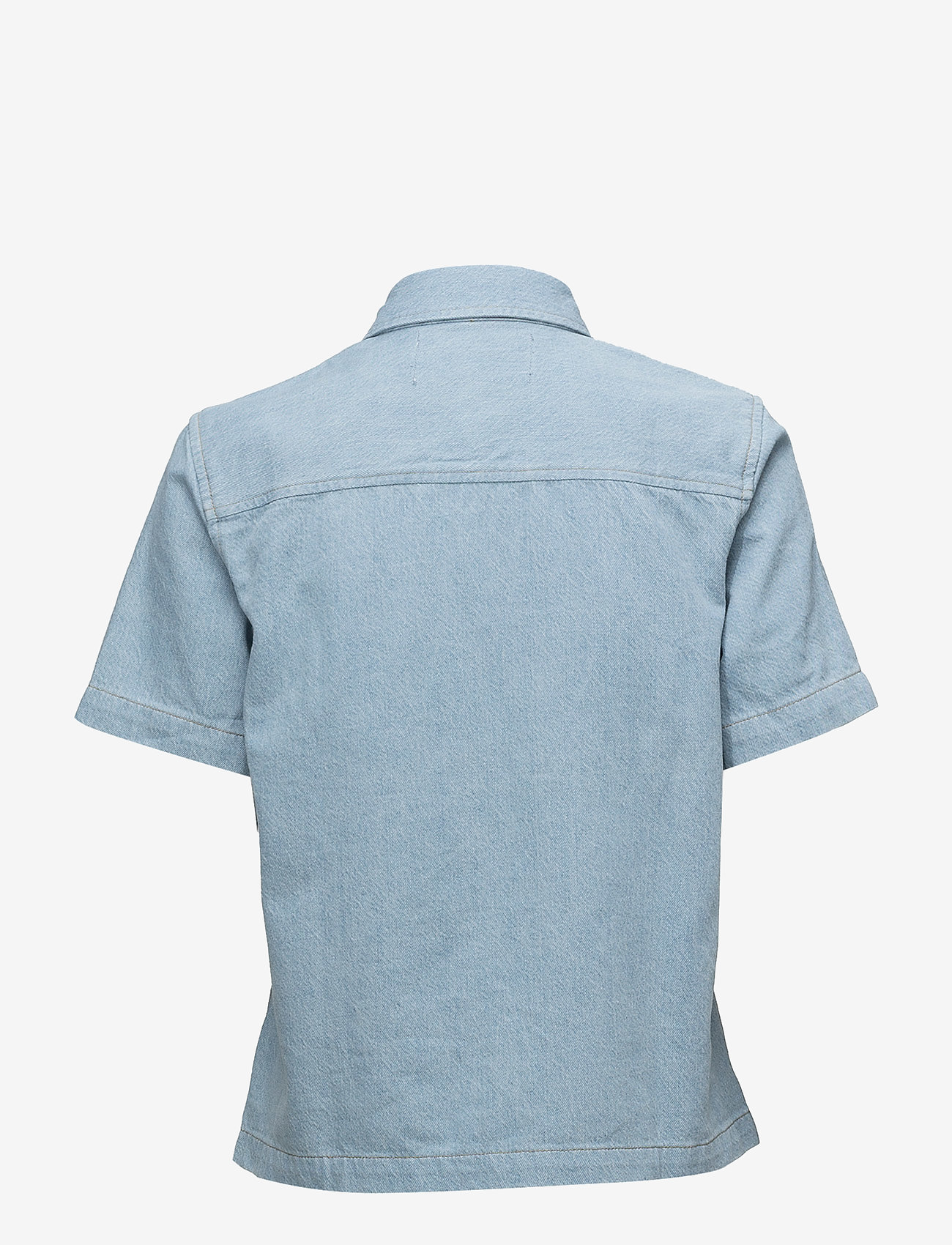 Calvin Klein Jeans Ss Boxy Shirt Blocke - Blusar & Skjortor Irwin Blue Blocked