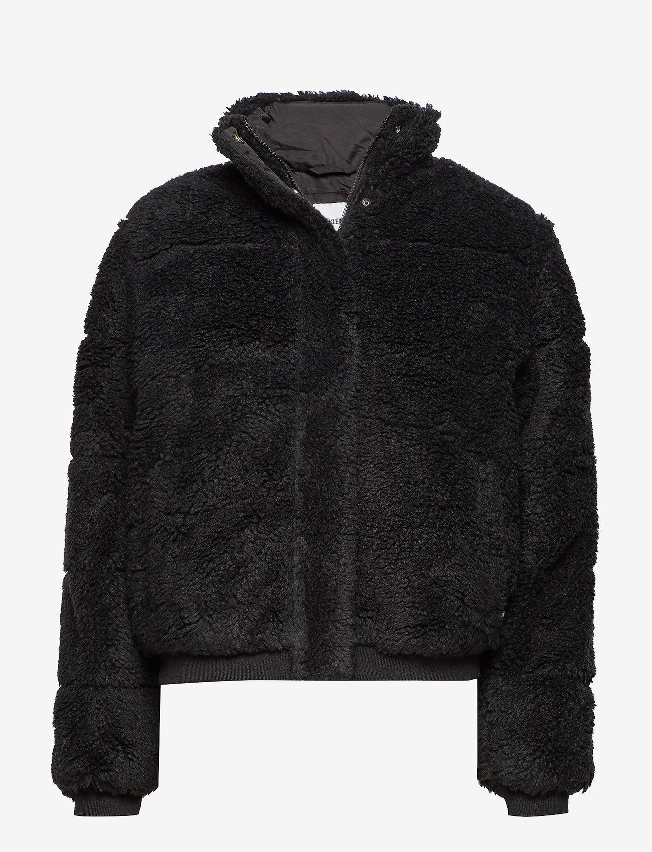 Calvin Klein Jeans - POLAR FLEECE PUFFER - fausse fourrure - ck black