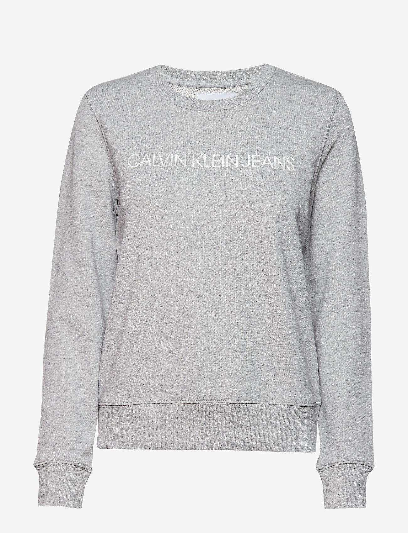 Calvin Klein Jeans - INSTITUTIONAL CORE L - sweatshirts - light grey heather - 0
