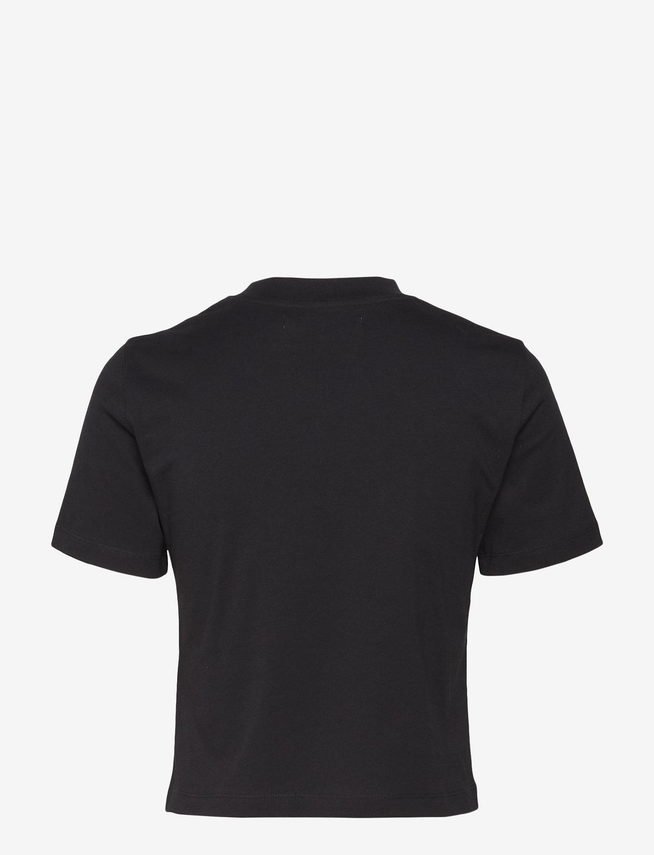 Calvin Klein Jeans - CALVIN LOGO CROPPED TEE - crop tops - ck black